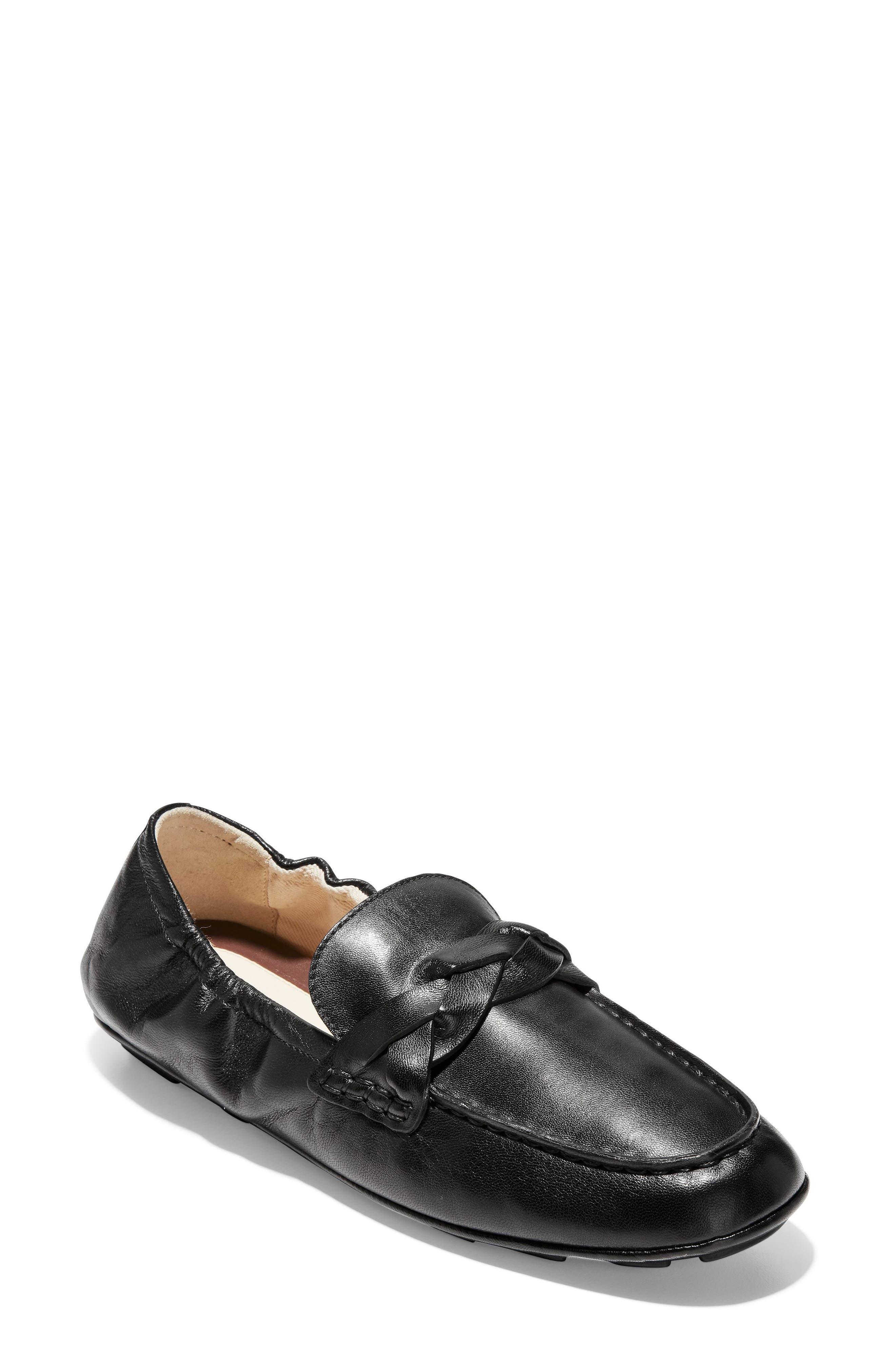 Odette Loafer, Main, color, BLACK LEATHER