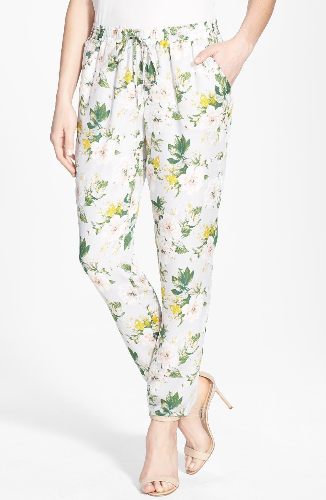 'Theron B' Silk Pants,                         Main,                         color, 020
