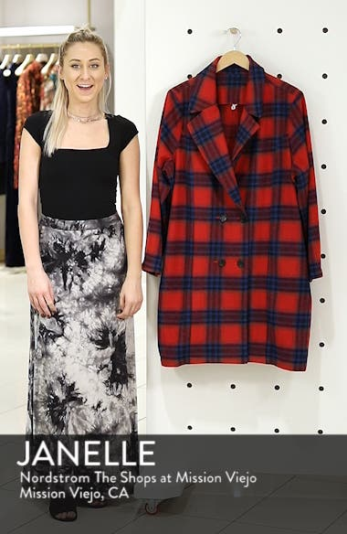 Double Breasted Plaid Jacket, sales video thumbnail