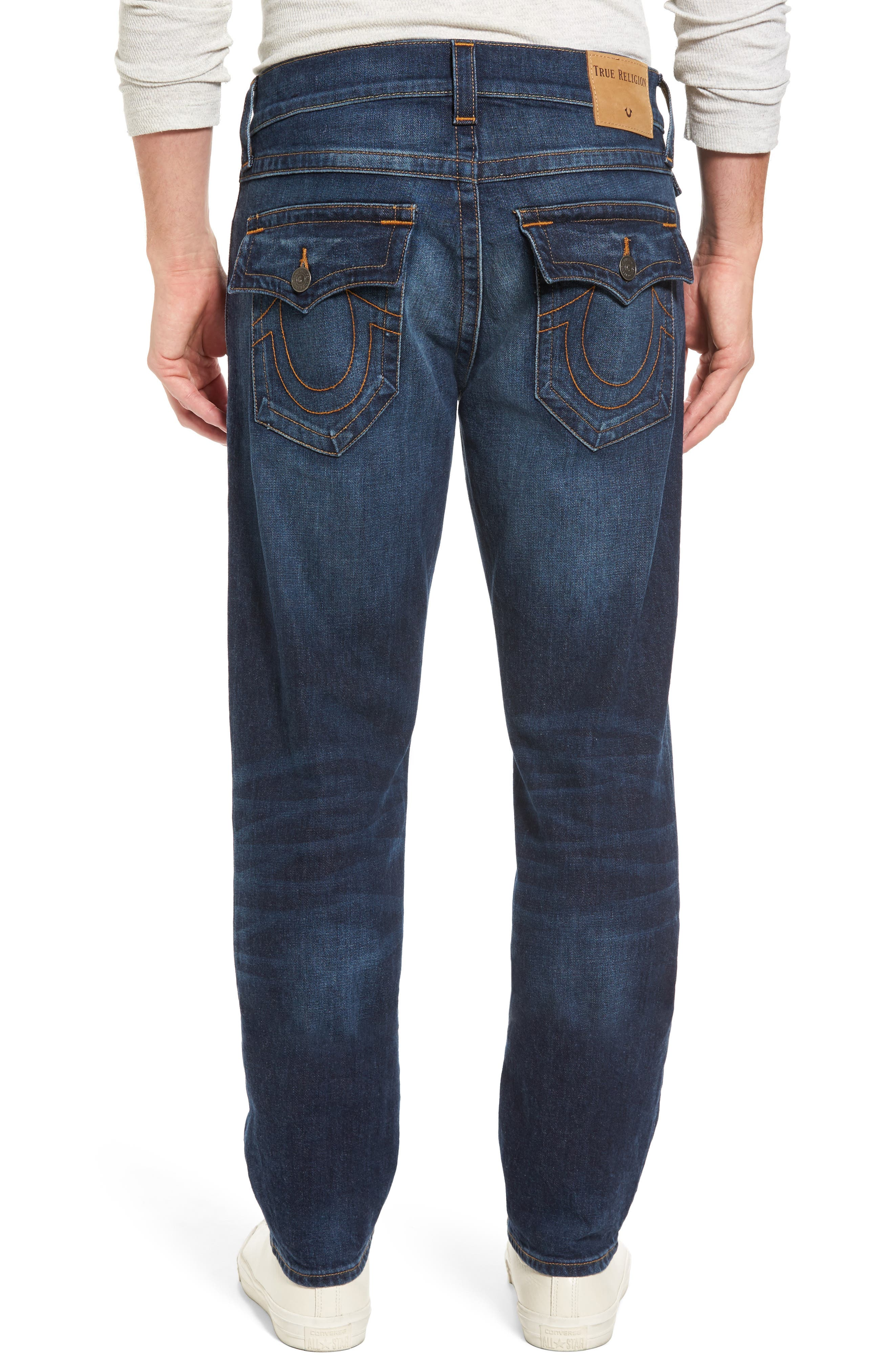 Geno Straight Leg Jeans,                             Alternate thumbnail 2, color,                             BLUE CASCADE