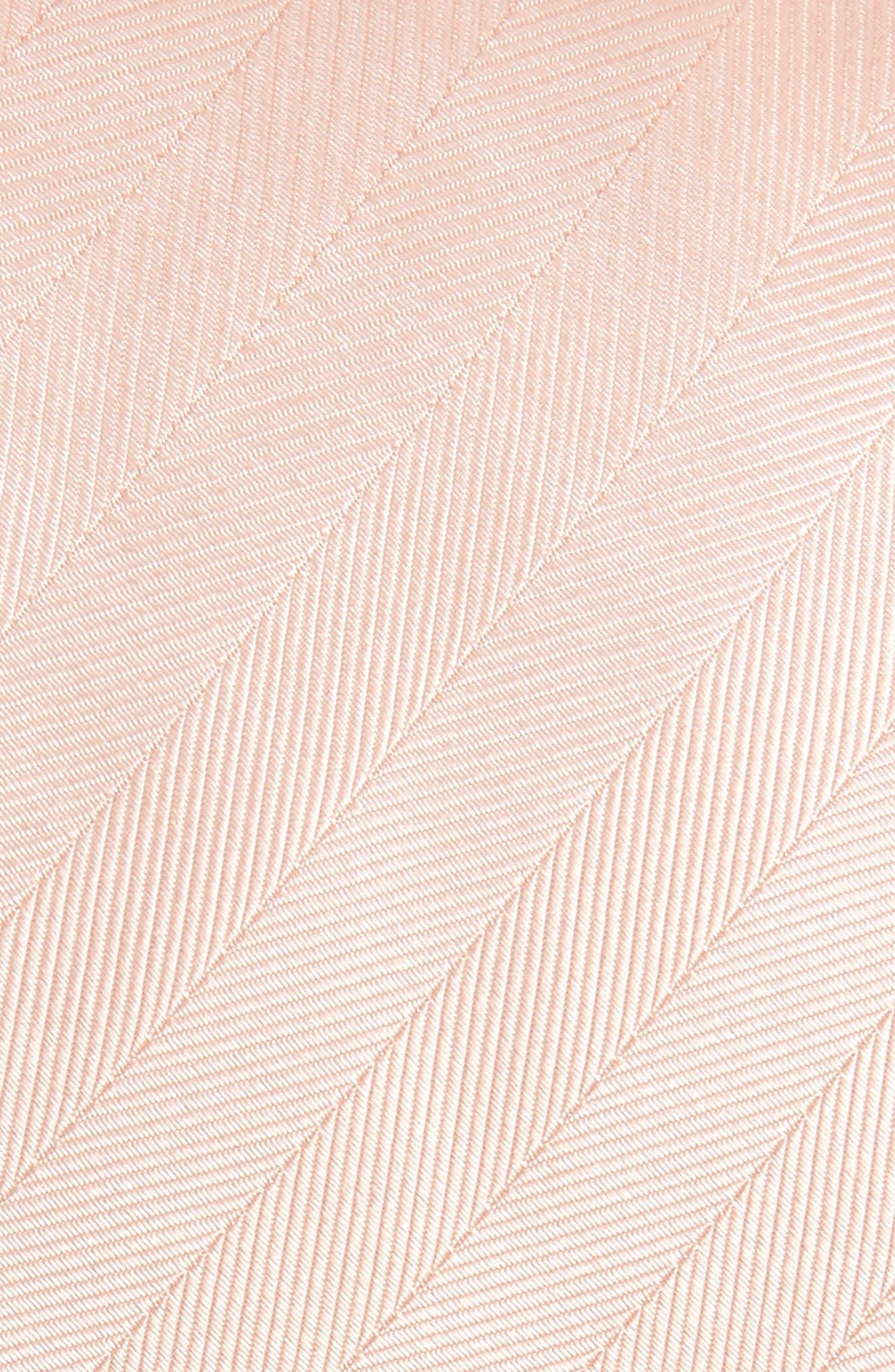 Herringbone Silk Tie,                             Alternate thumbnail 2, color,                             BLUSH PINK