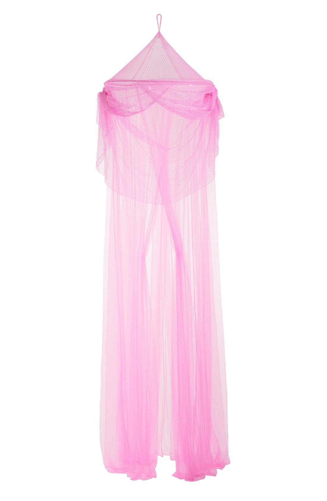 'Pink SparkleTastic' Bed Canopy,                             Main thumbnail 1, color,                             650