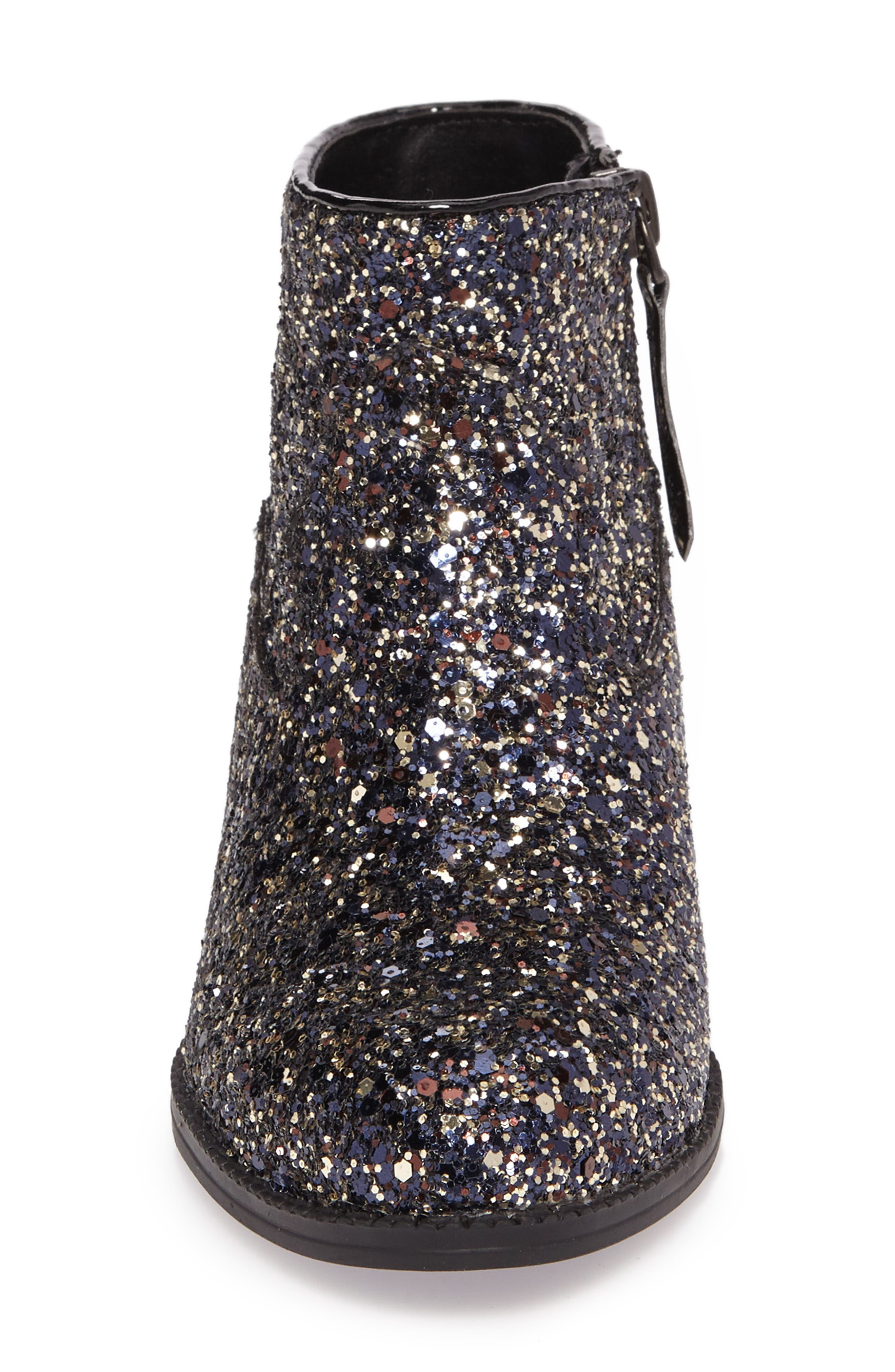 Jaclyn Glitter Bootie,                             Alternate thumbnail 4, color,                             002