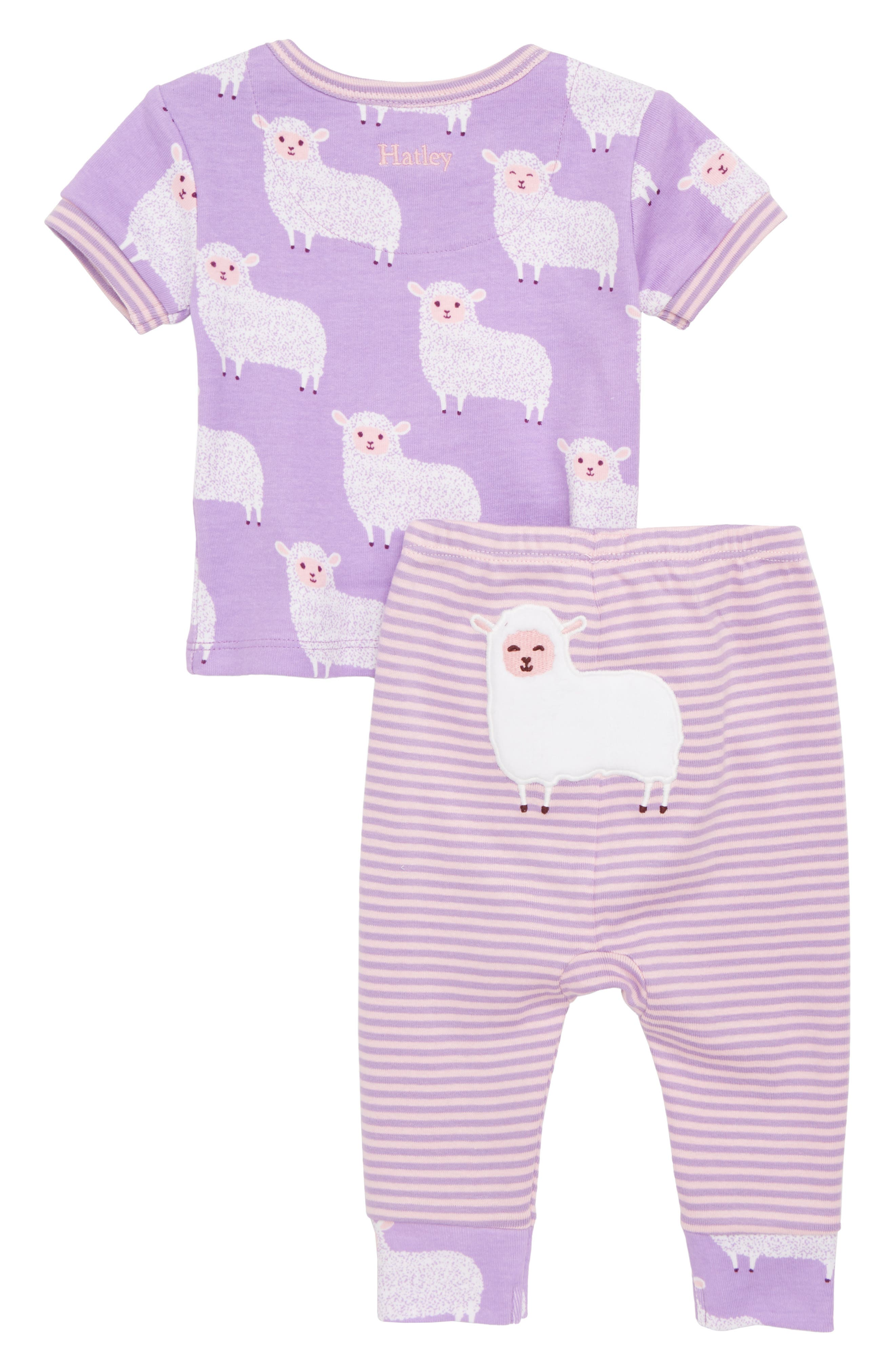 Counting Sheep Fitted Two-Piece Pajamas,                             Alternate thumbnail 2, color,