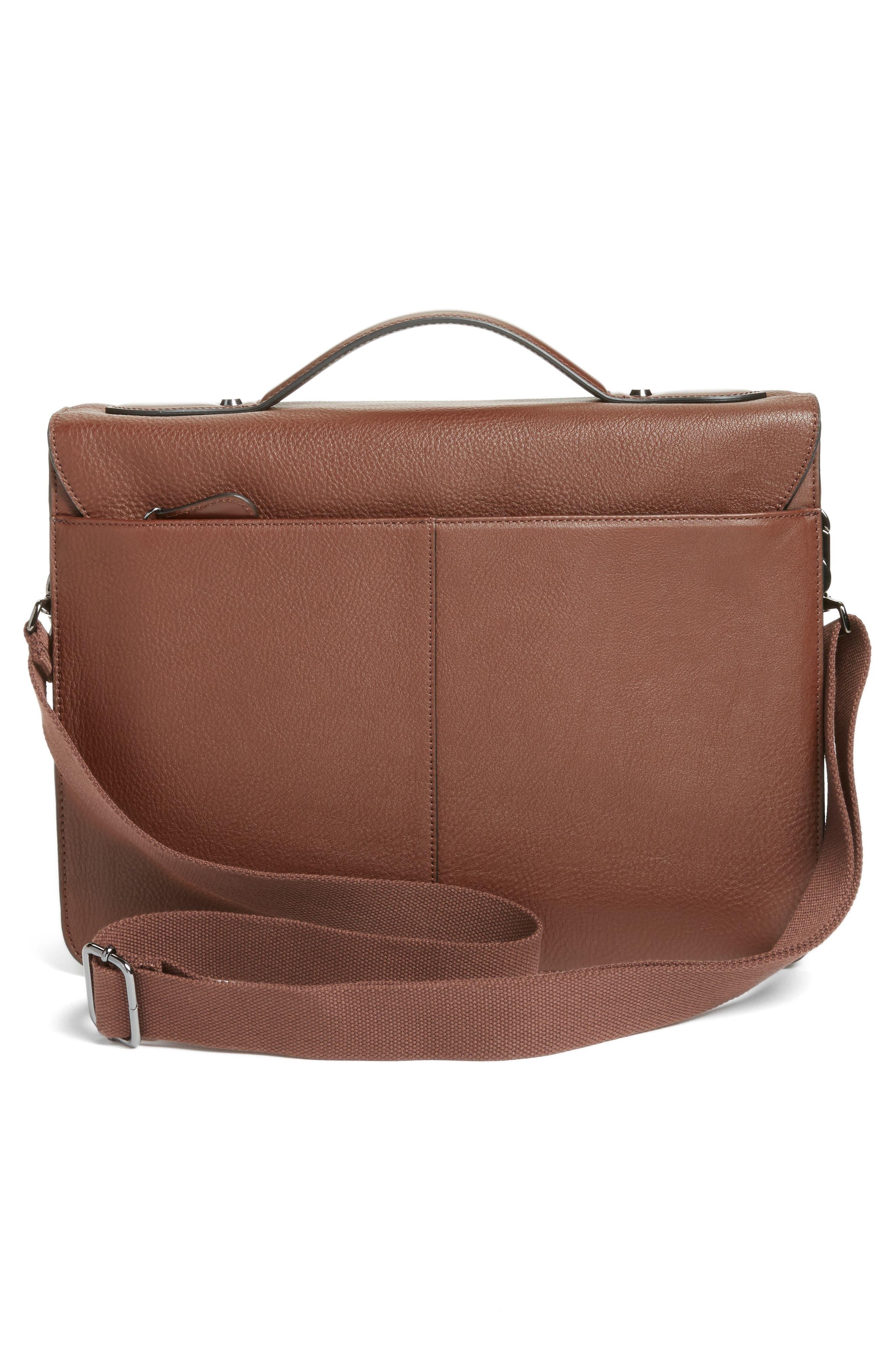 Bengal Leather Satchel,                             Alternate thumbnail 6, color,