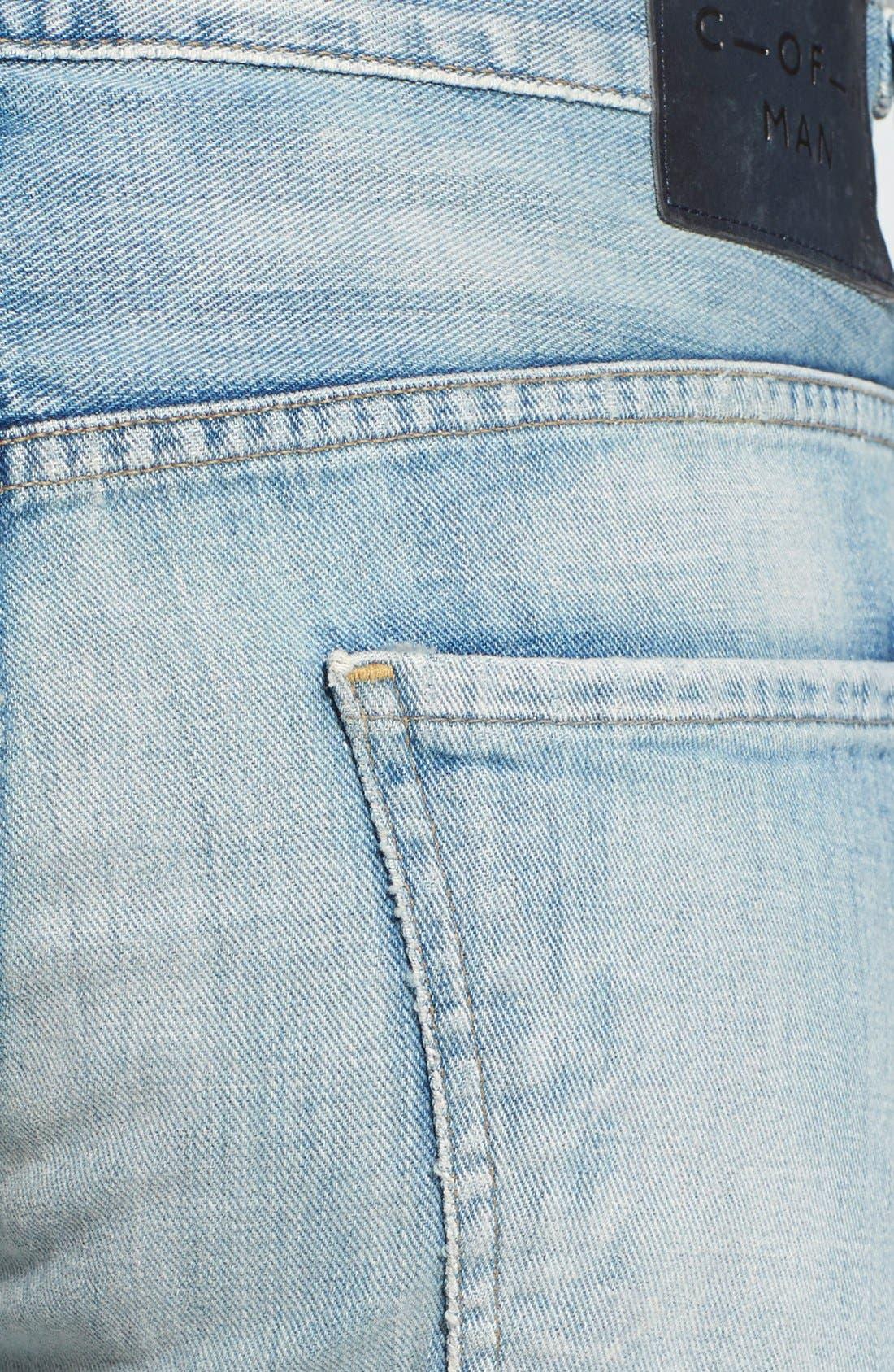 'Sid' Straight Leg Jeans,                             Alternate thumbnail 2, color,                             CONFEDERACY