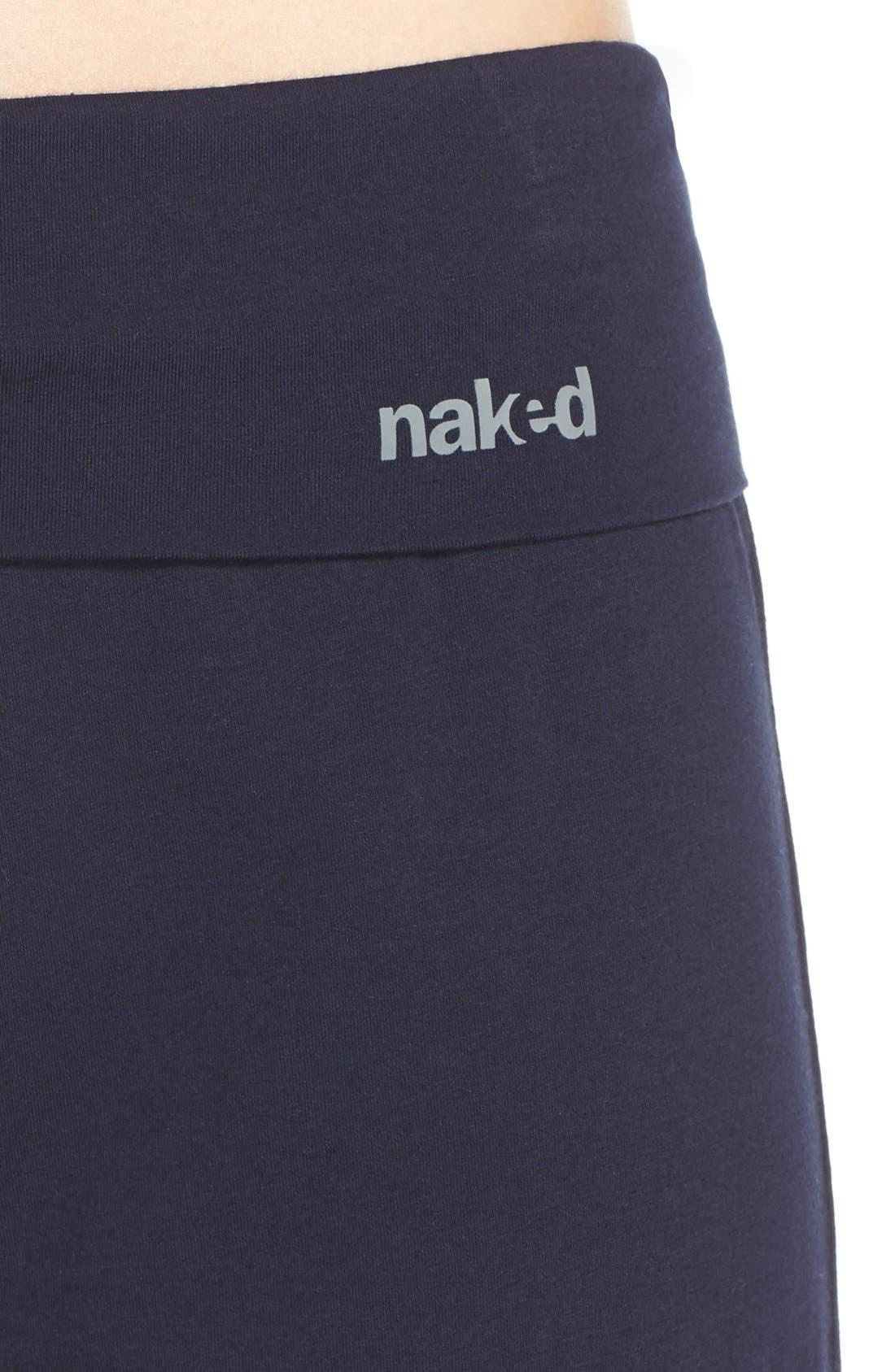Wide Leg Stretch Cotton Pajama Pants,                             Alternate thumbnail 5, color,                             PEACOAT