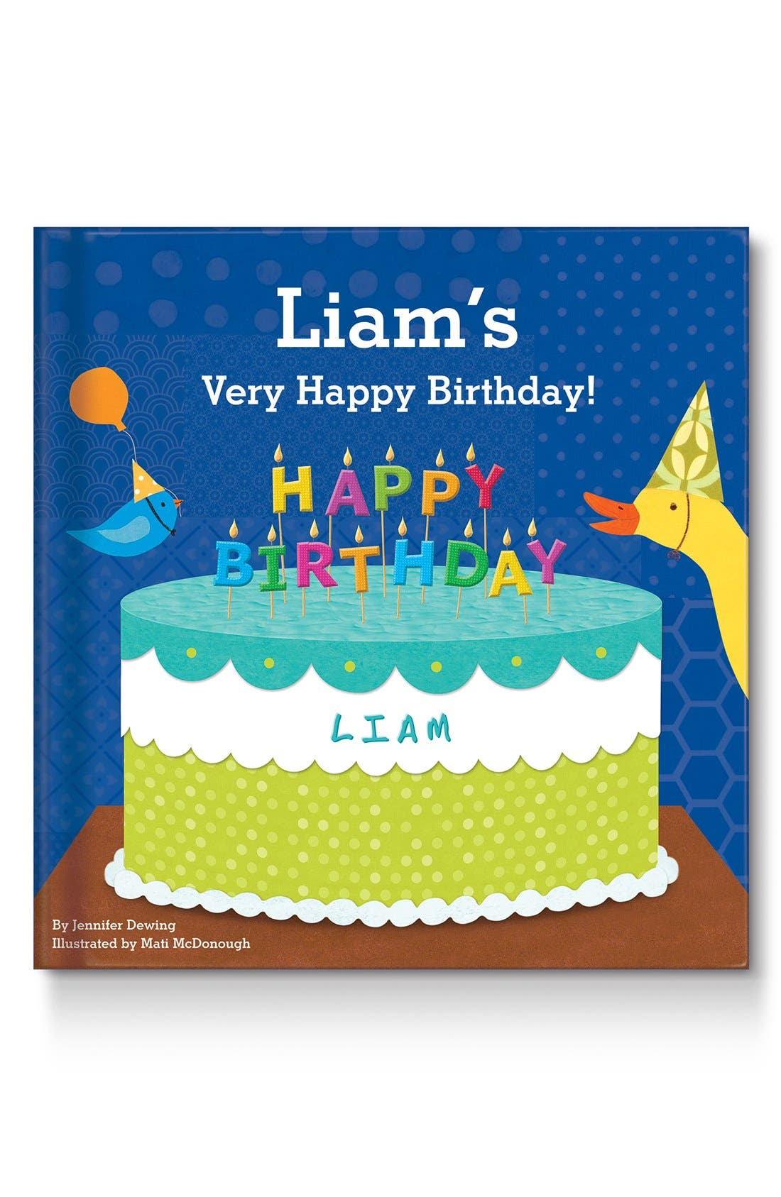 'My Very Happy Birthday' Personalized Book,                             Main thumbnail 1, color,                             BLUE