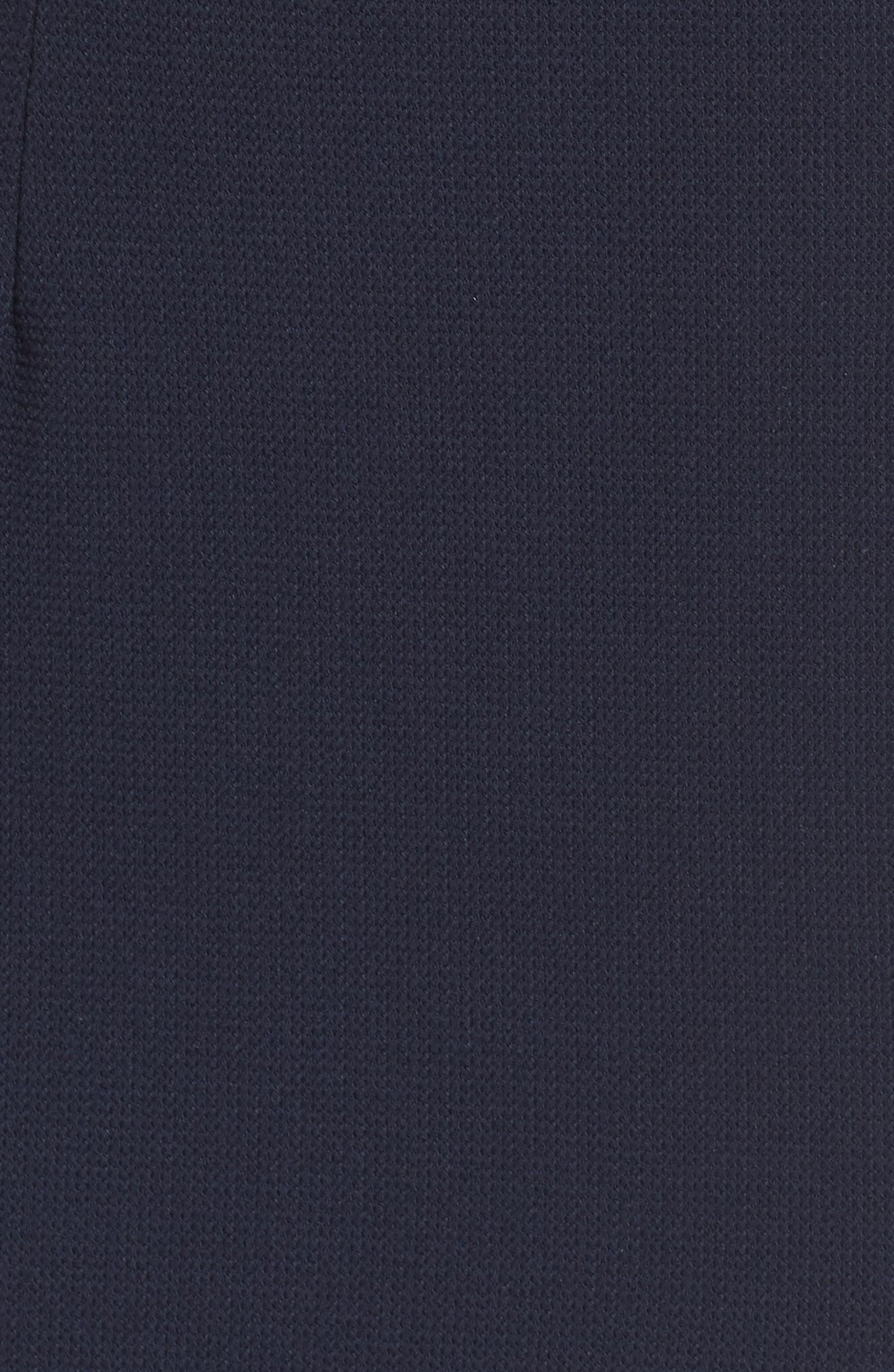 Structured Knit Asymmetrical Trumpet Midi Dress,                             Alternate thumbnail 5, color,