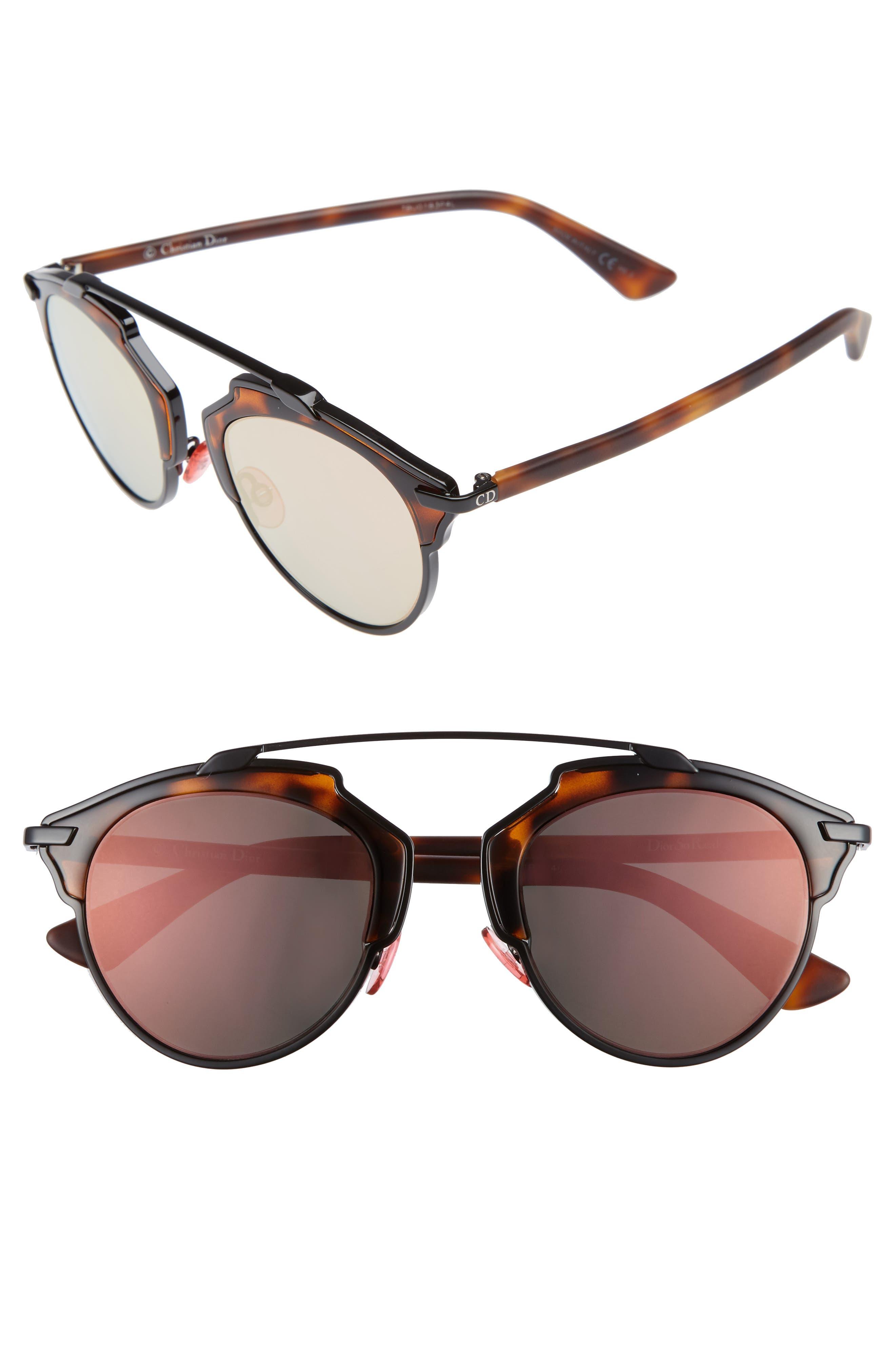 So Real 48mm Brow Bar Sunglasses,                             Main thumbnail 6, color,