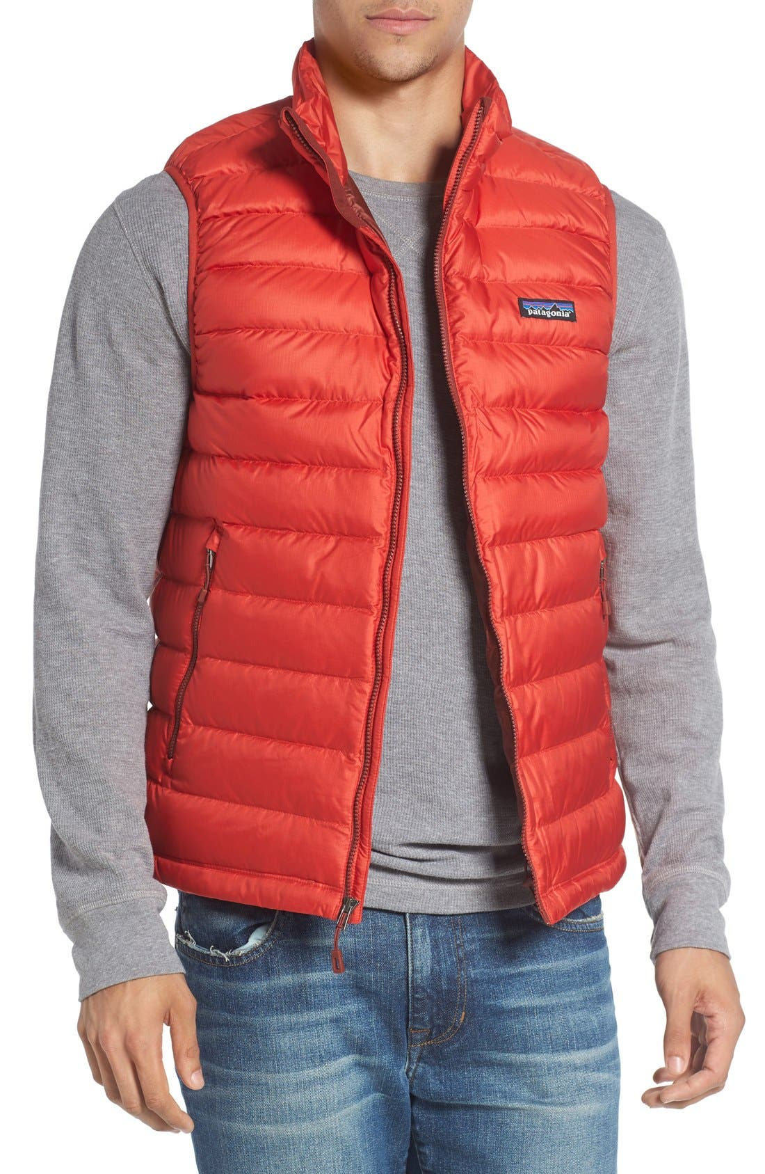 Windproof & Water Resistant 800 Fill Power Down Quilted Vest,                             Main thumbnail 6, color,