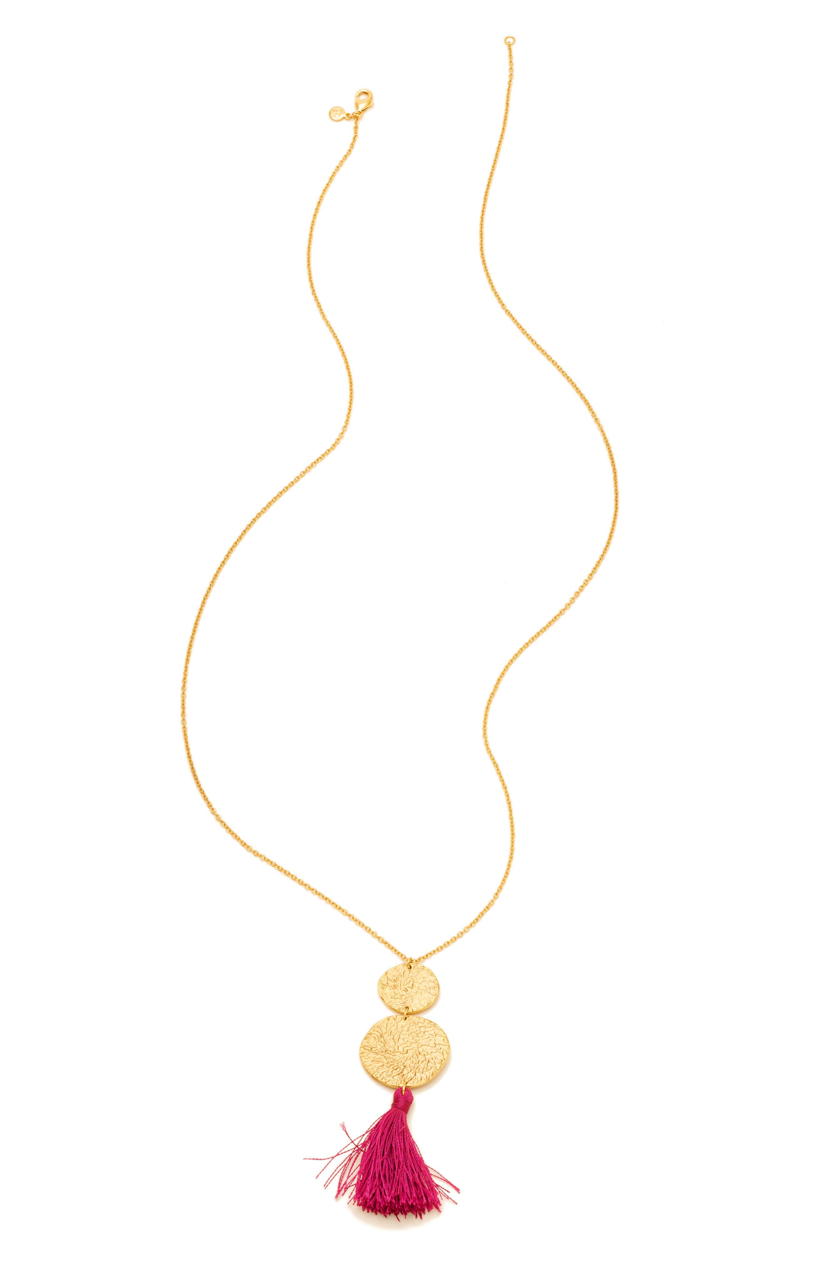Phoenix Pendant Necklace,                             Main thumbnail 1, color,                             BERRY/GOLD
