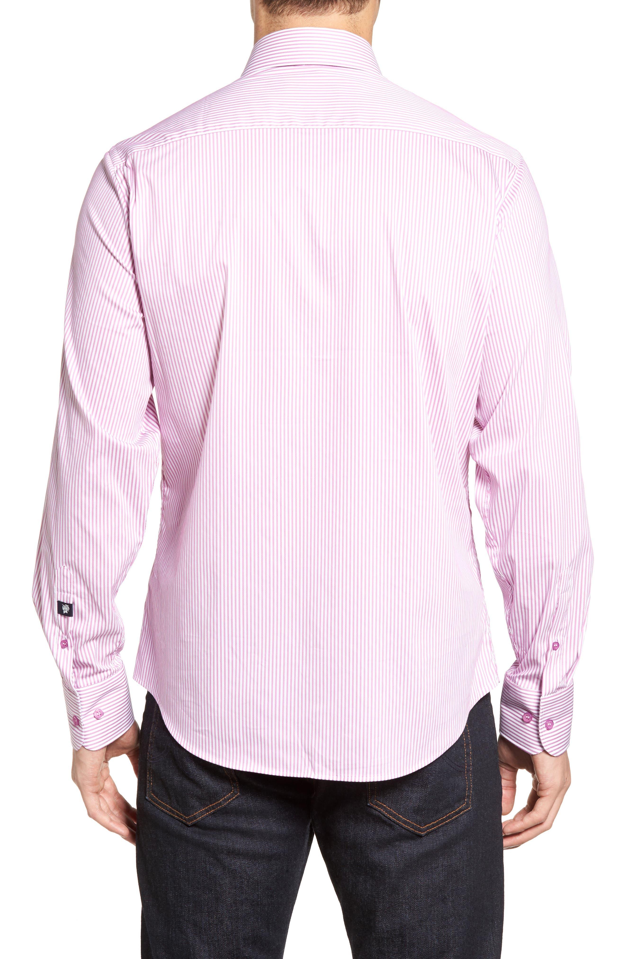 Technical Stripe Sport Shirt,                             Alternate thumbnail 6, color,