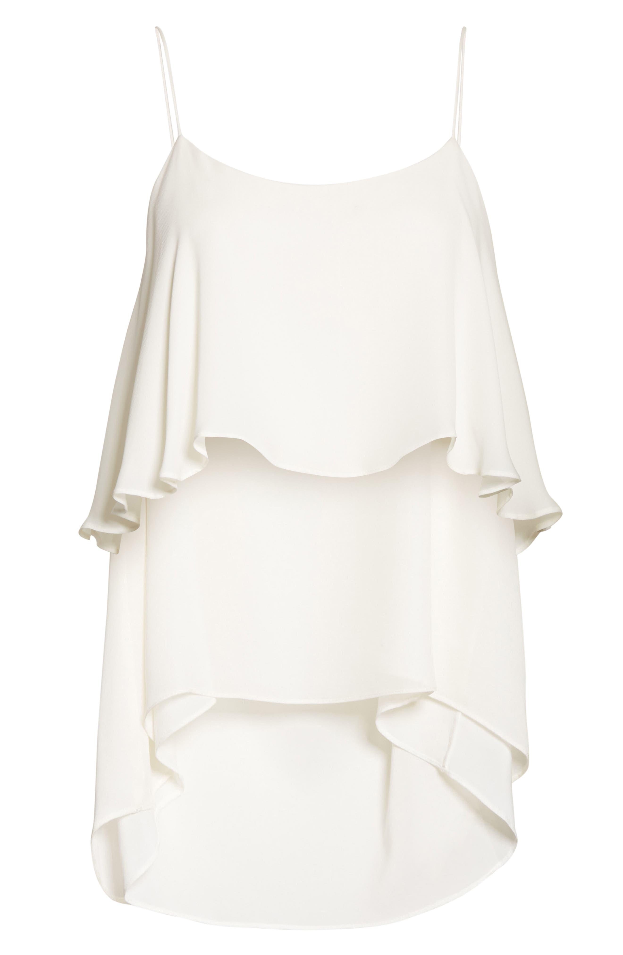 Maribel Asymmetrical Drape Silk Camisole,                             Alternate thumbnail 6, color,                             907