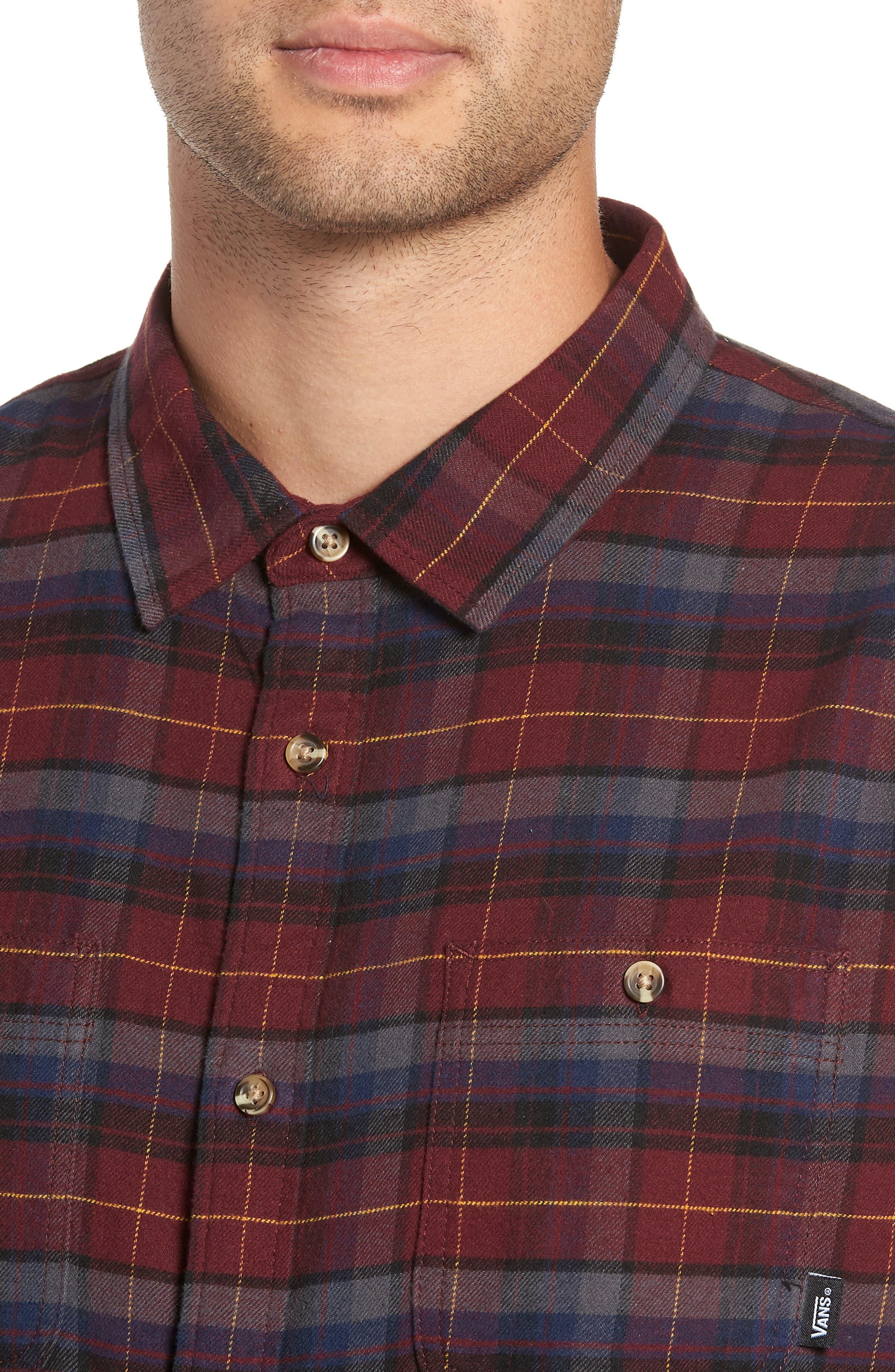 Banfield III Plaid Flannel Shirt,                             Alternate thumbnail 2, color,                             930