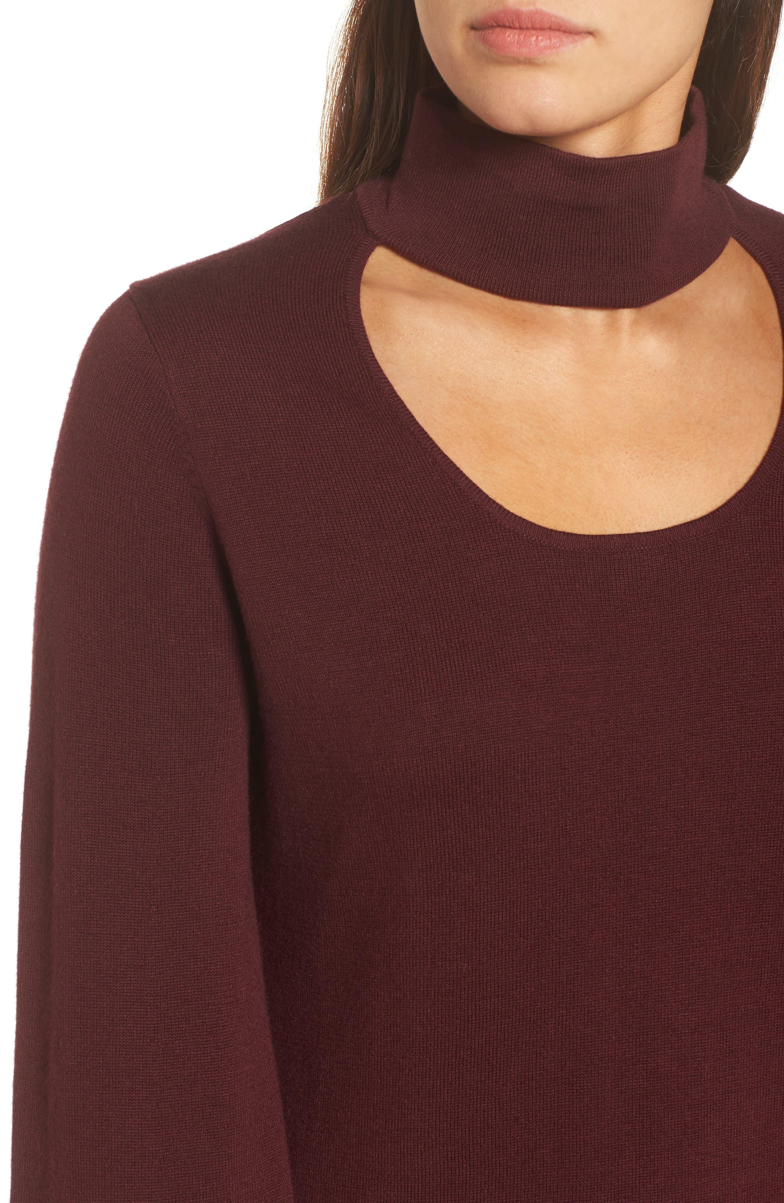 Bell Sleeve Choker Neck Sweater,                             Alternate thumbnail 19, color,