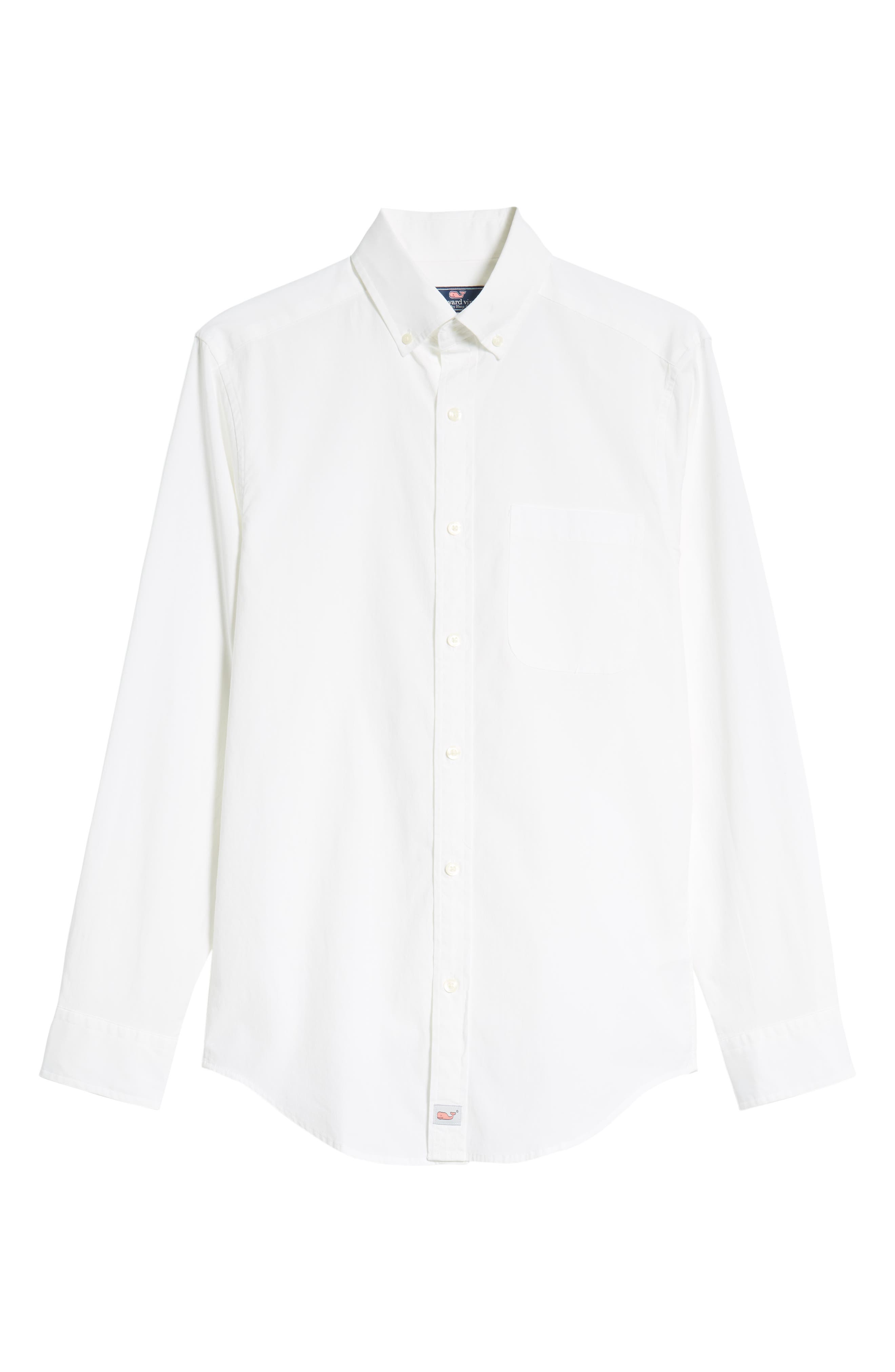 Eoe Murray Regular Fit Sport Shirt,                             Alternate thumbnail 5, color,                             WHITE CAP