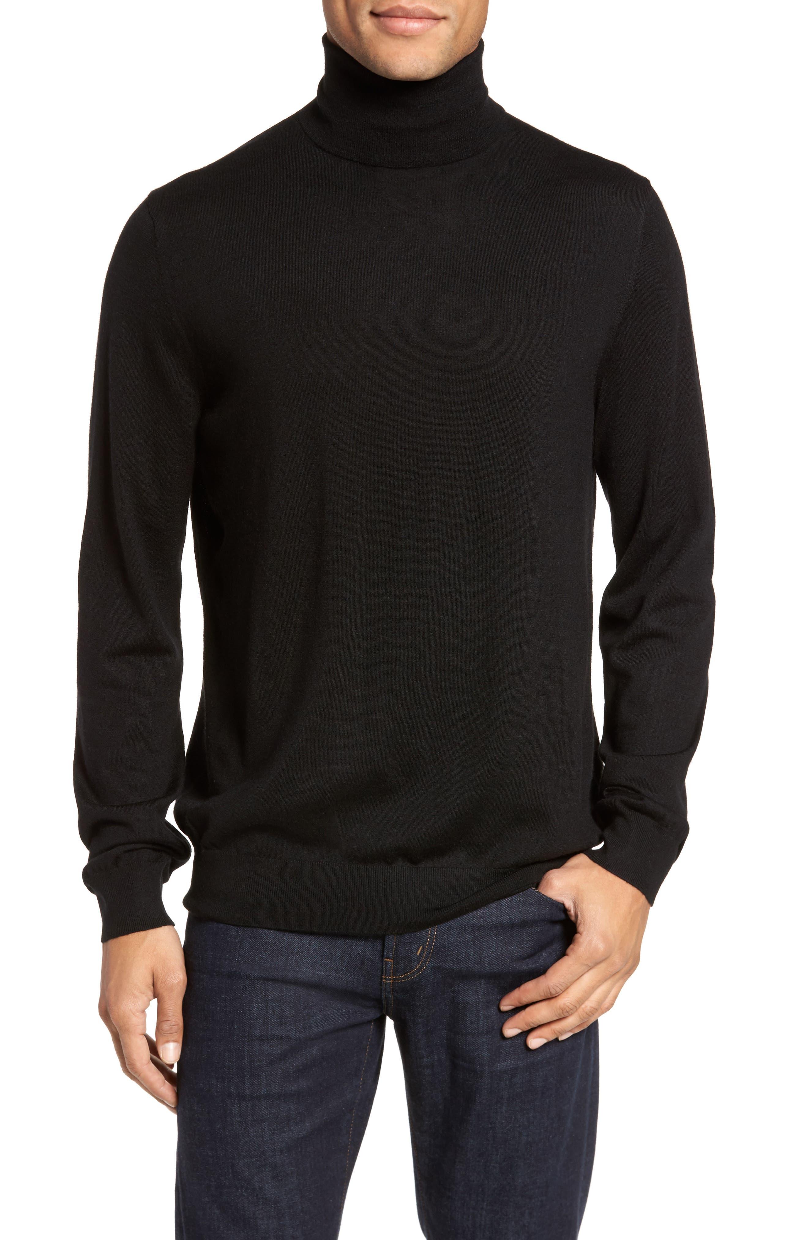 Turtleneck Sweater,                         Main,                         color, 001