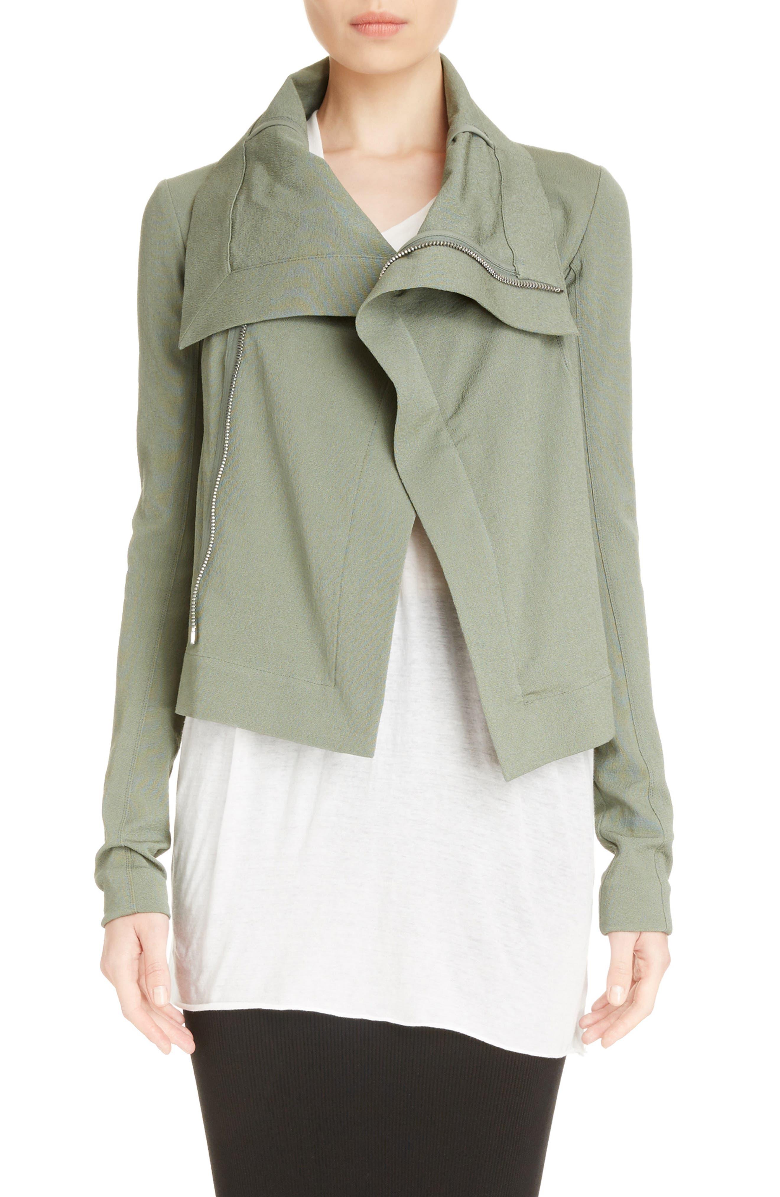 Cotton Blend Biker Jacket,                             Main thumbnail 1, color,                             300