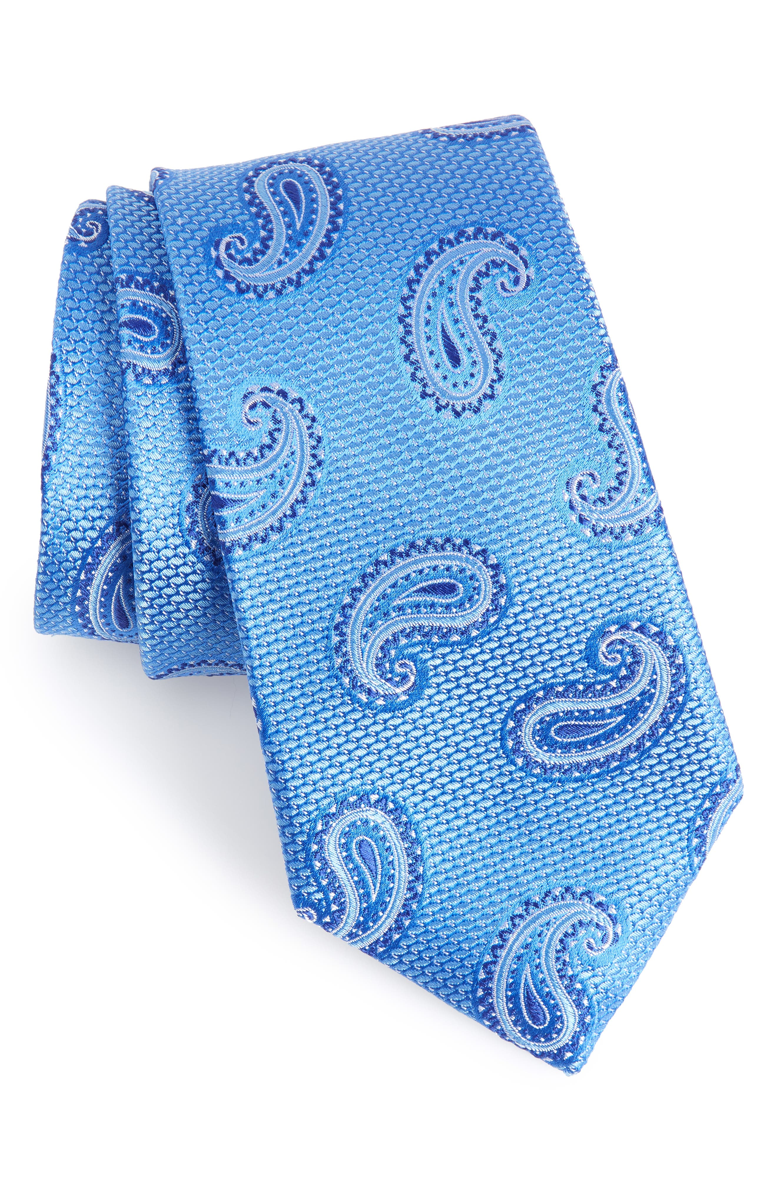 Jerome Paisley Silk Tie,                             Main thumbnail 2, color,
