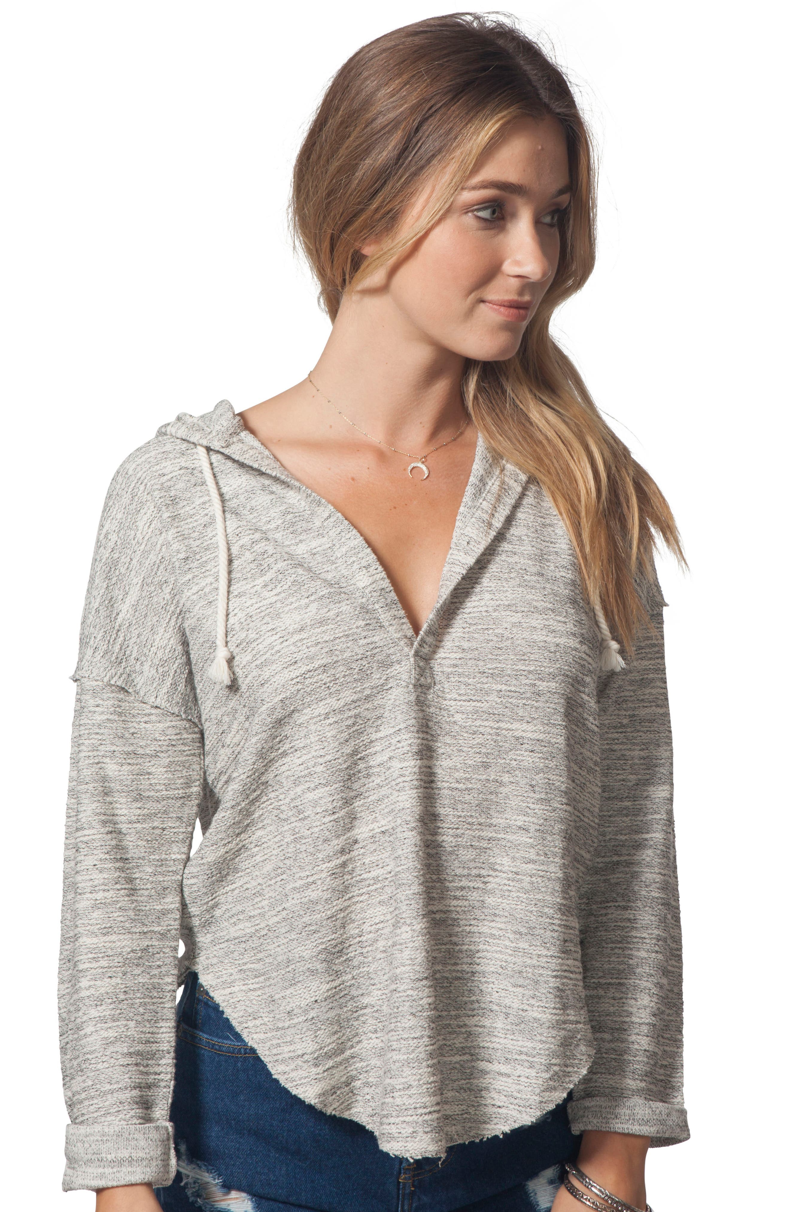 RIP CURL,                             Drift Pullover Hoodie,                             Alternate thumbnail 4, color,                             001