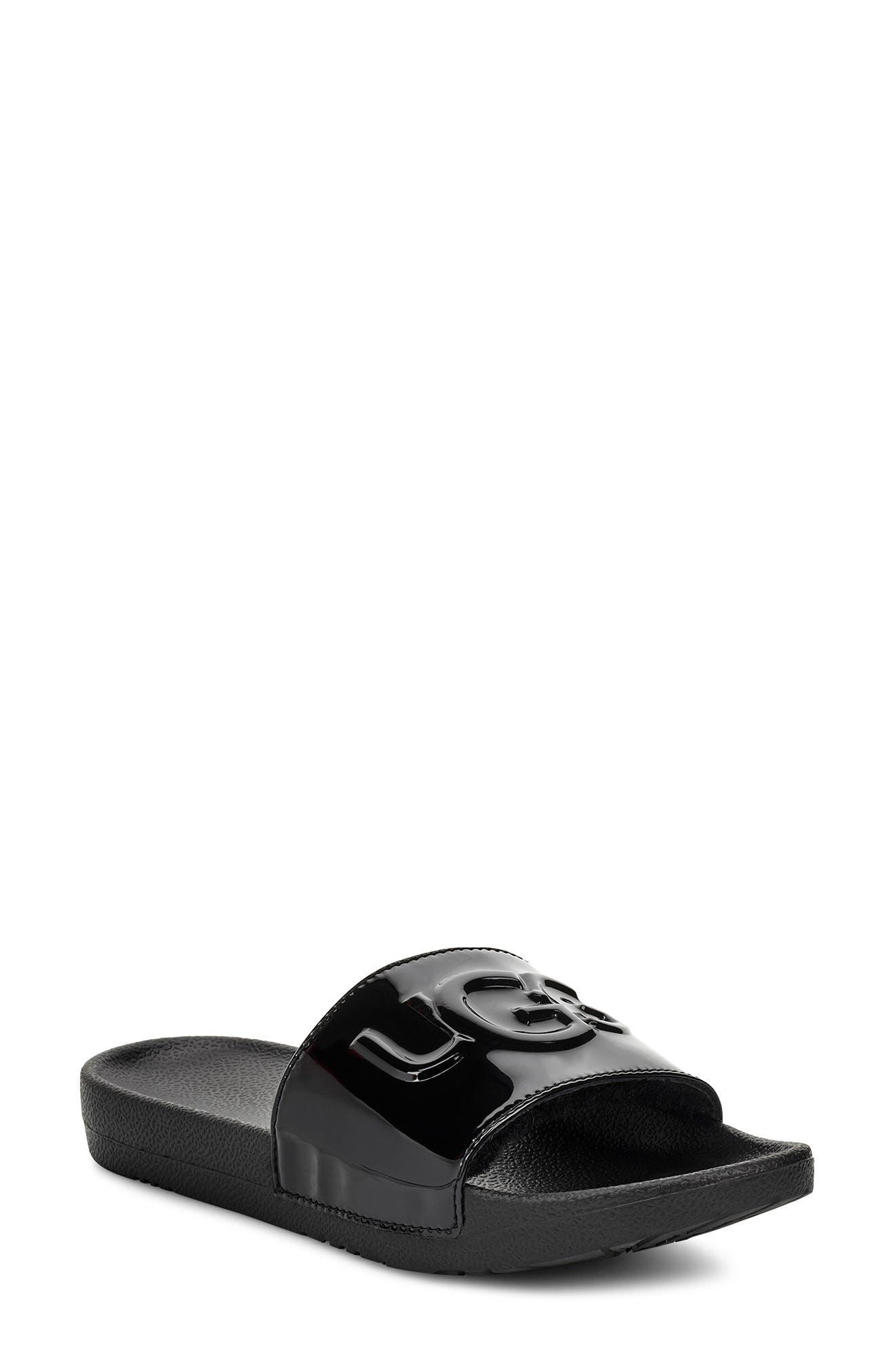 UGG<SUP>®</SUP> Royale Slide Sandal, Main, color, BLACK