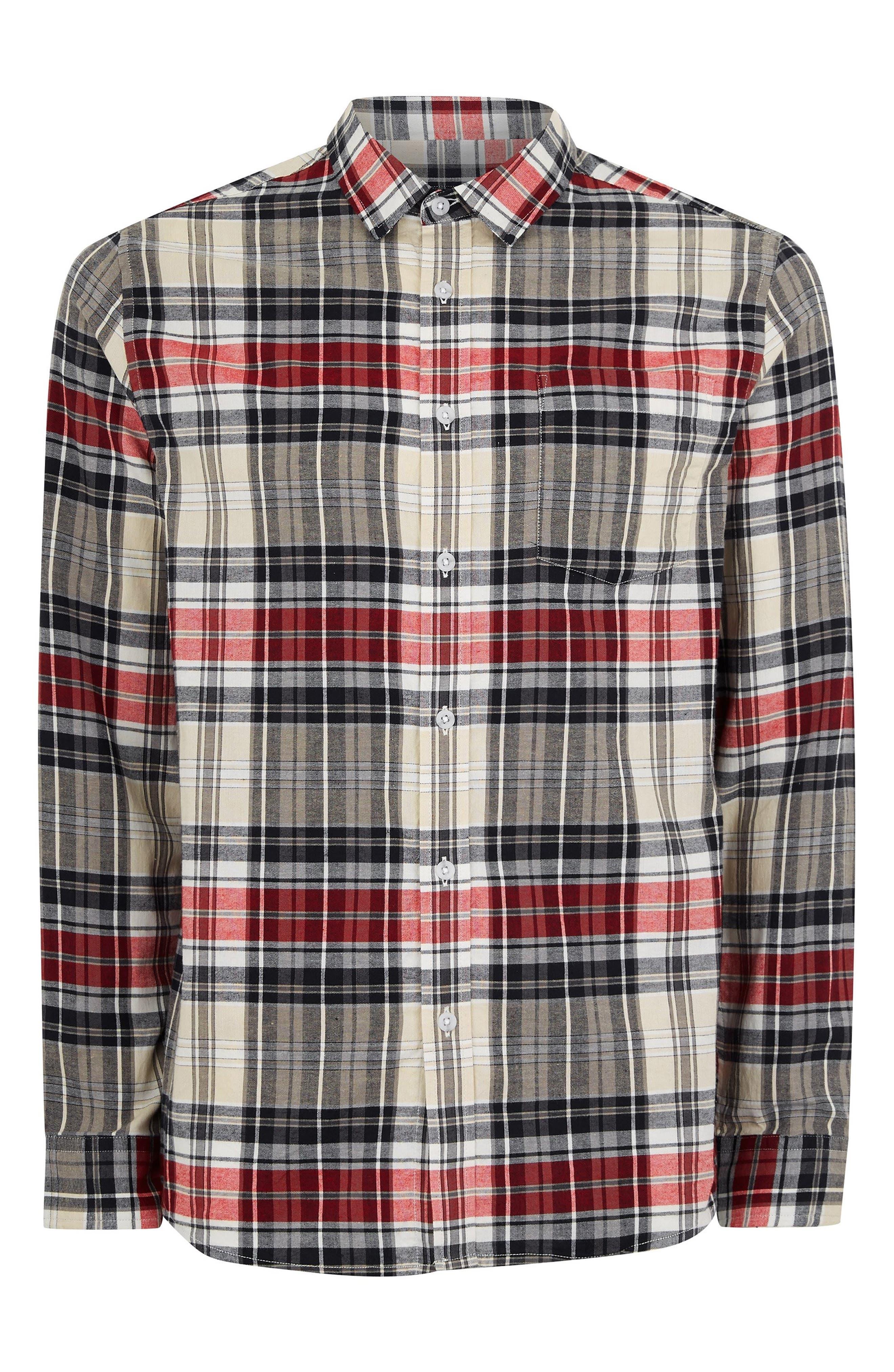 Check Shirt,                             Alternate thumbnail 5, color,                             STONE