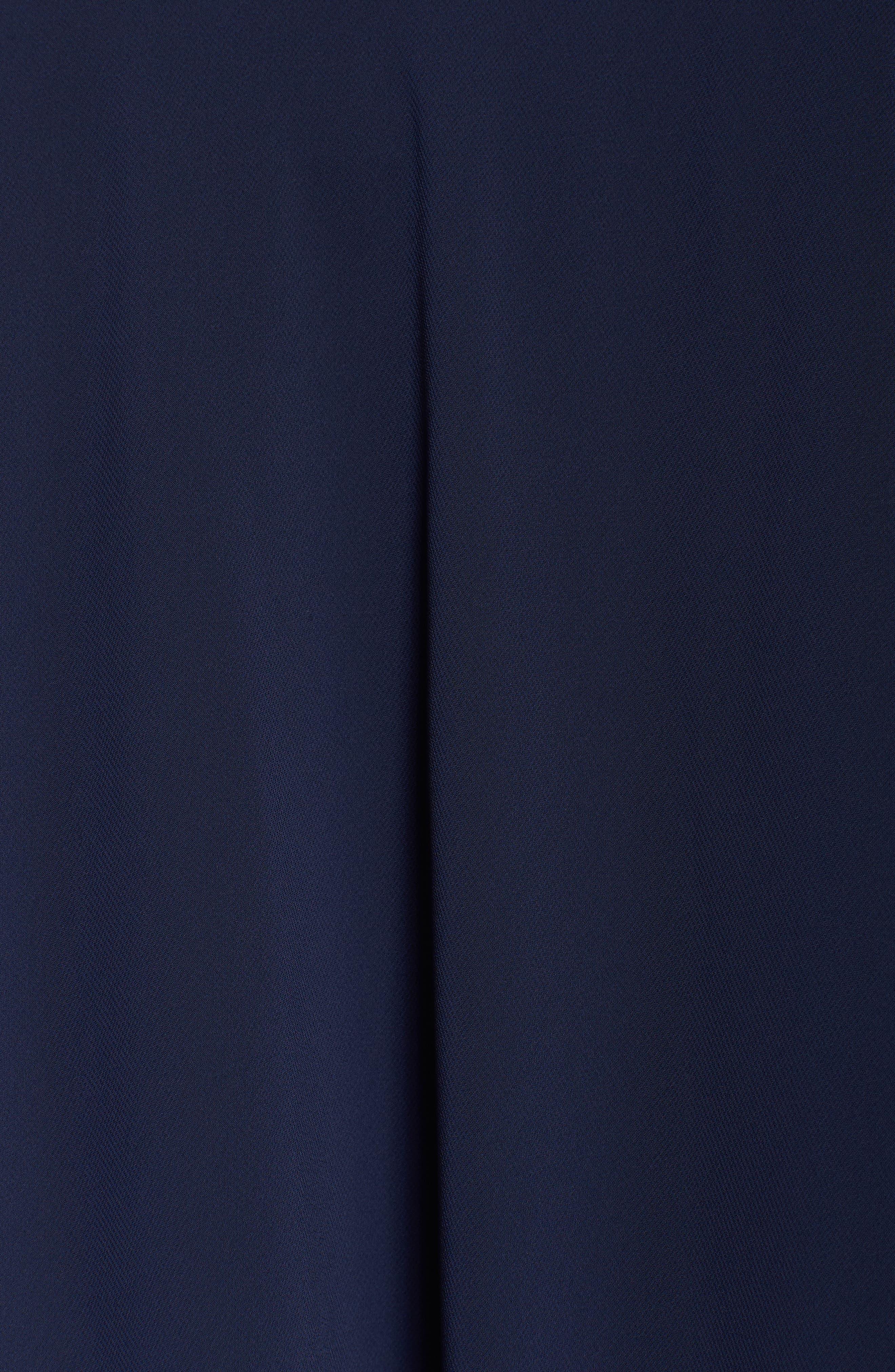 Embellished Cold Shoulder Overlay Cocktail Dress,                             Alternate thumbnail 5, color,                             410