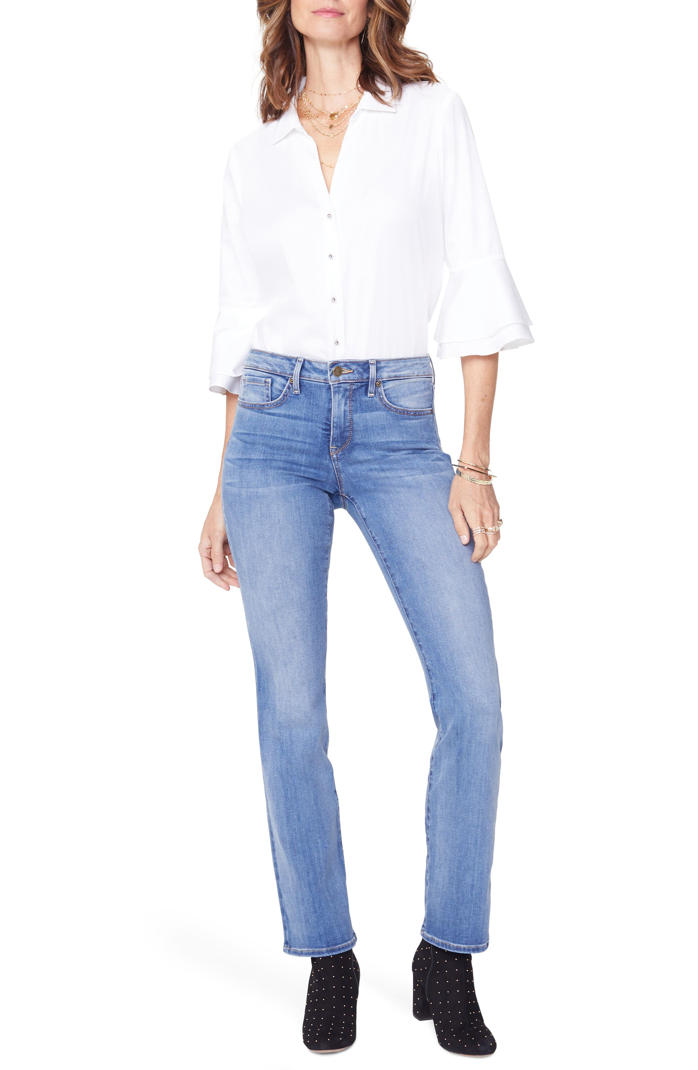 Barbara Bootcut Jeans,                             Main thumbnail 1, color,                             CLEAN CABRILLO