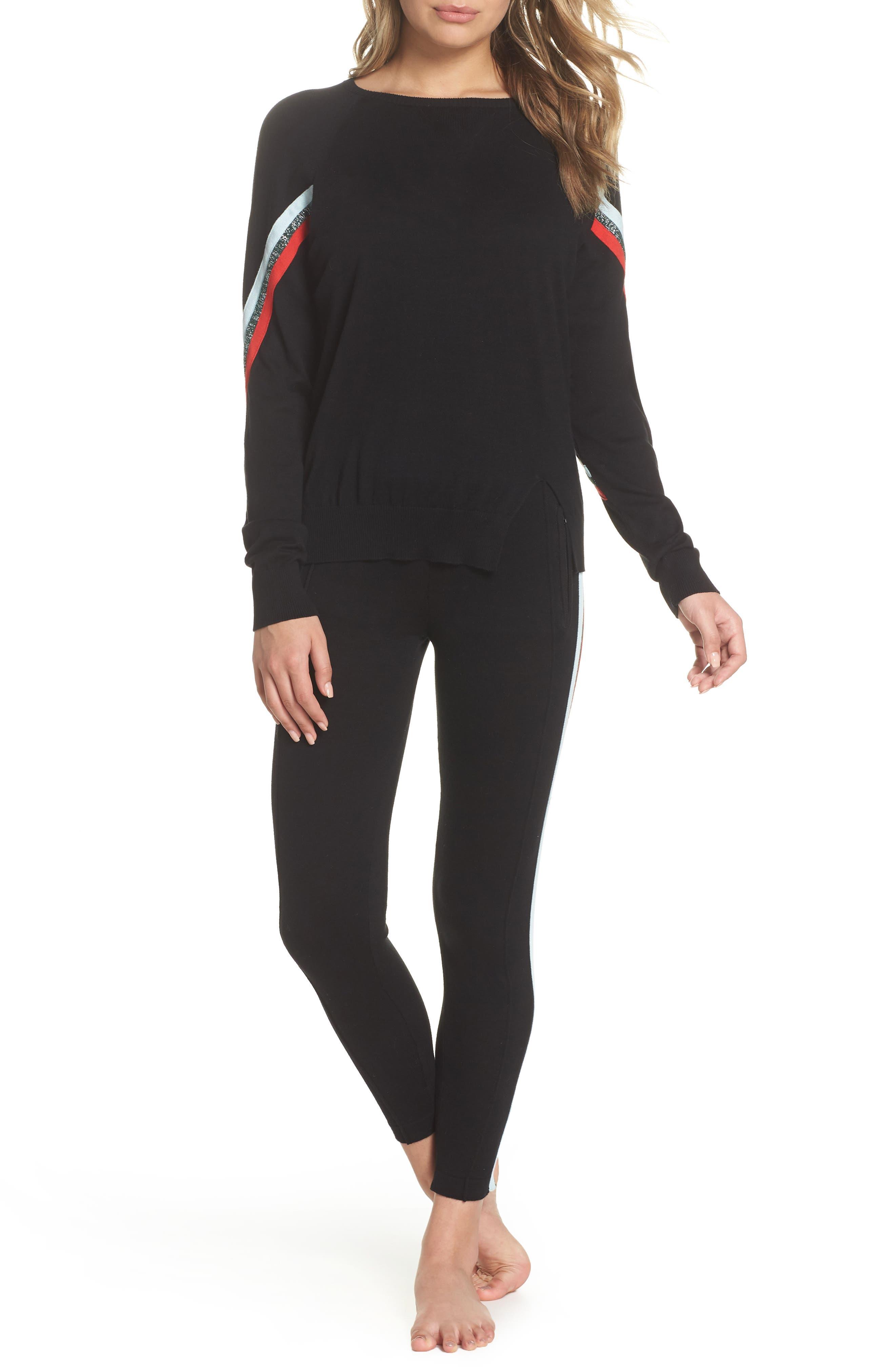 Rainbow Stripe Sweater,                             Alternate thumbnail 7, color,                             001
