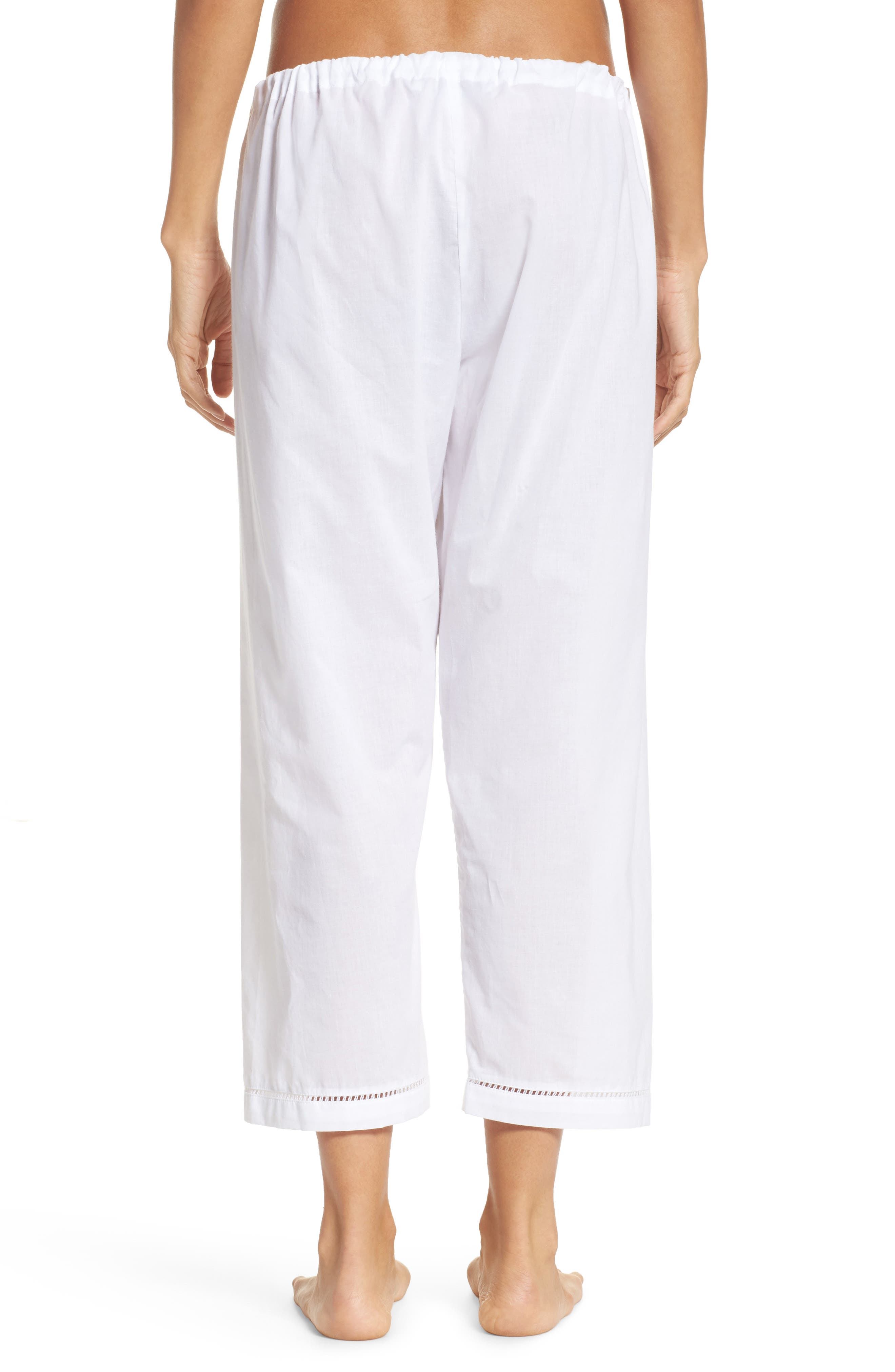 Crop Pajama Pants,                             Alternate thumbnail 2, color,                             100