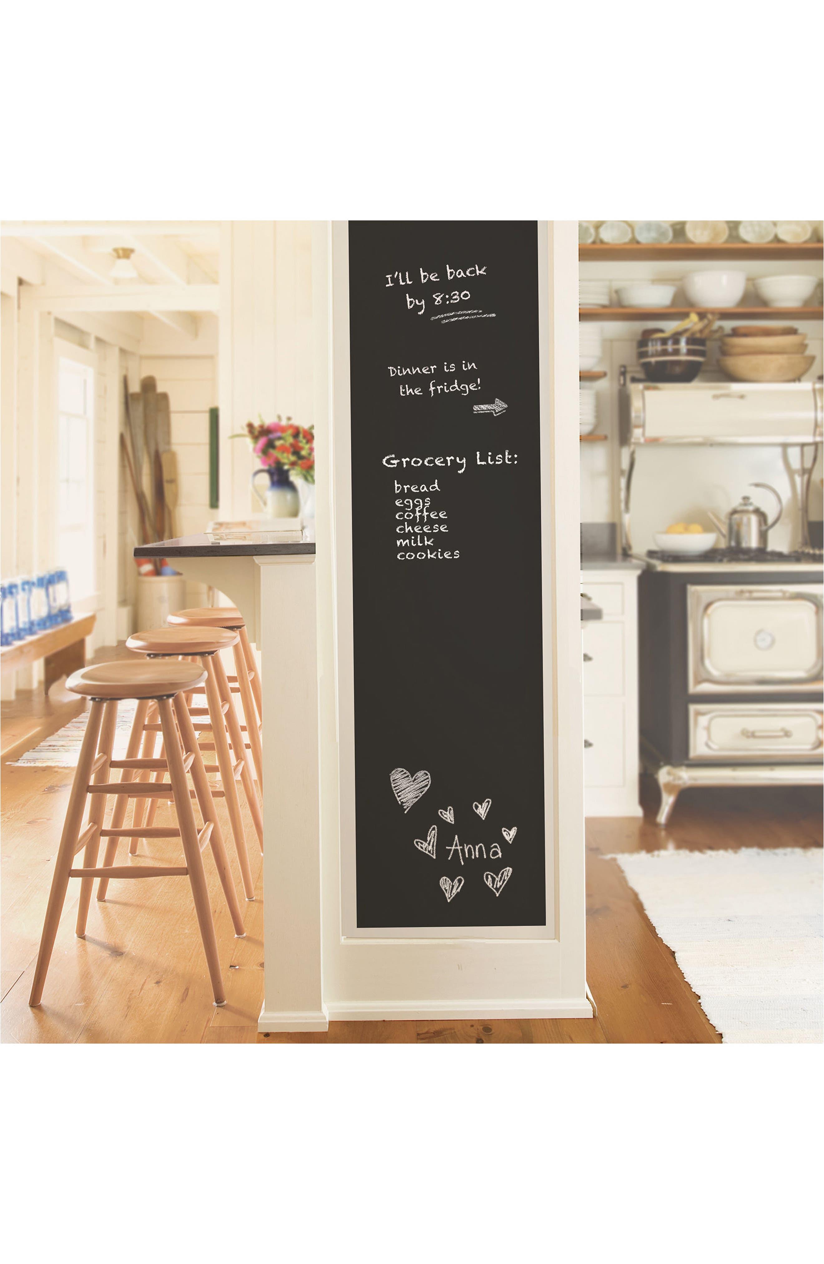 Vintage Chalkboard Peel & Stick Wallpaper,                             Alternate thumbnail 3, color,                             001