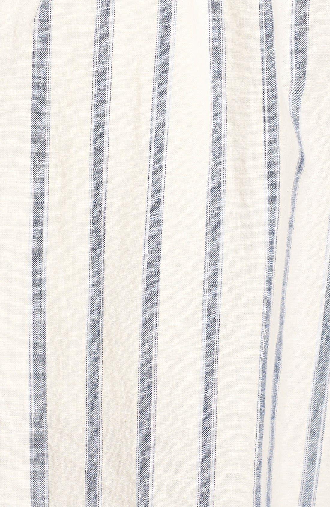 Ikat Stripe Tie Front Culotte Jumpsuit,                             Alternate thumbnail 2, color,