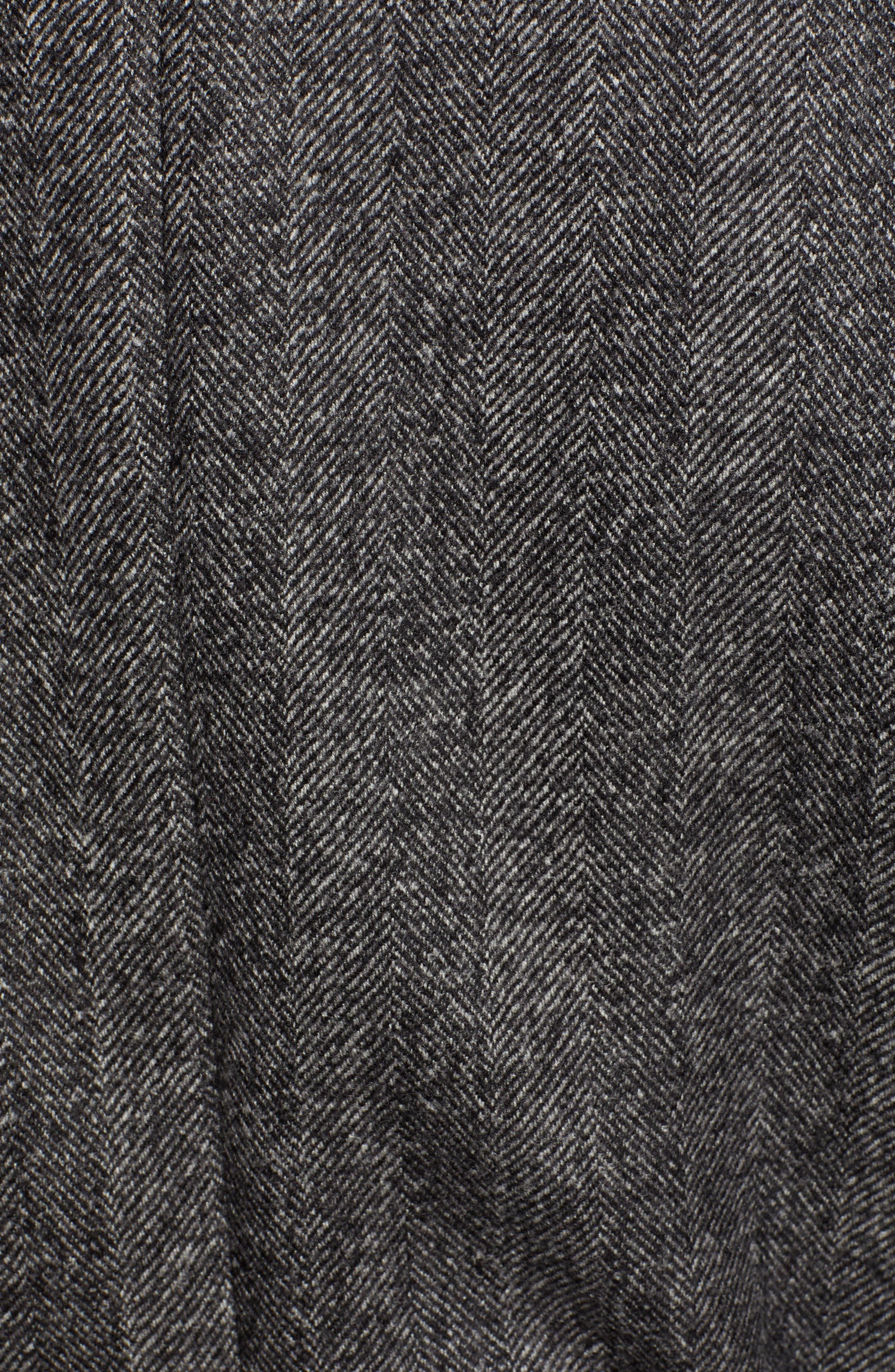 Zelander Herringbone Wool Blend Coat,                             Alternate thumbnail 7, color,                             GREY