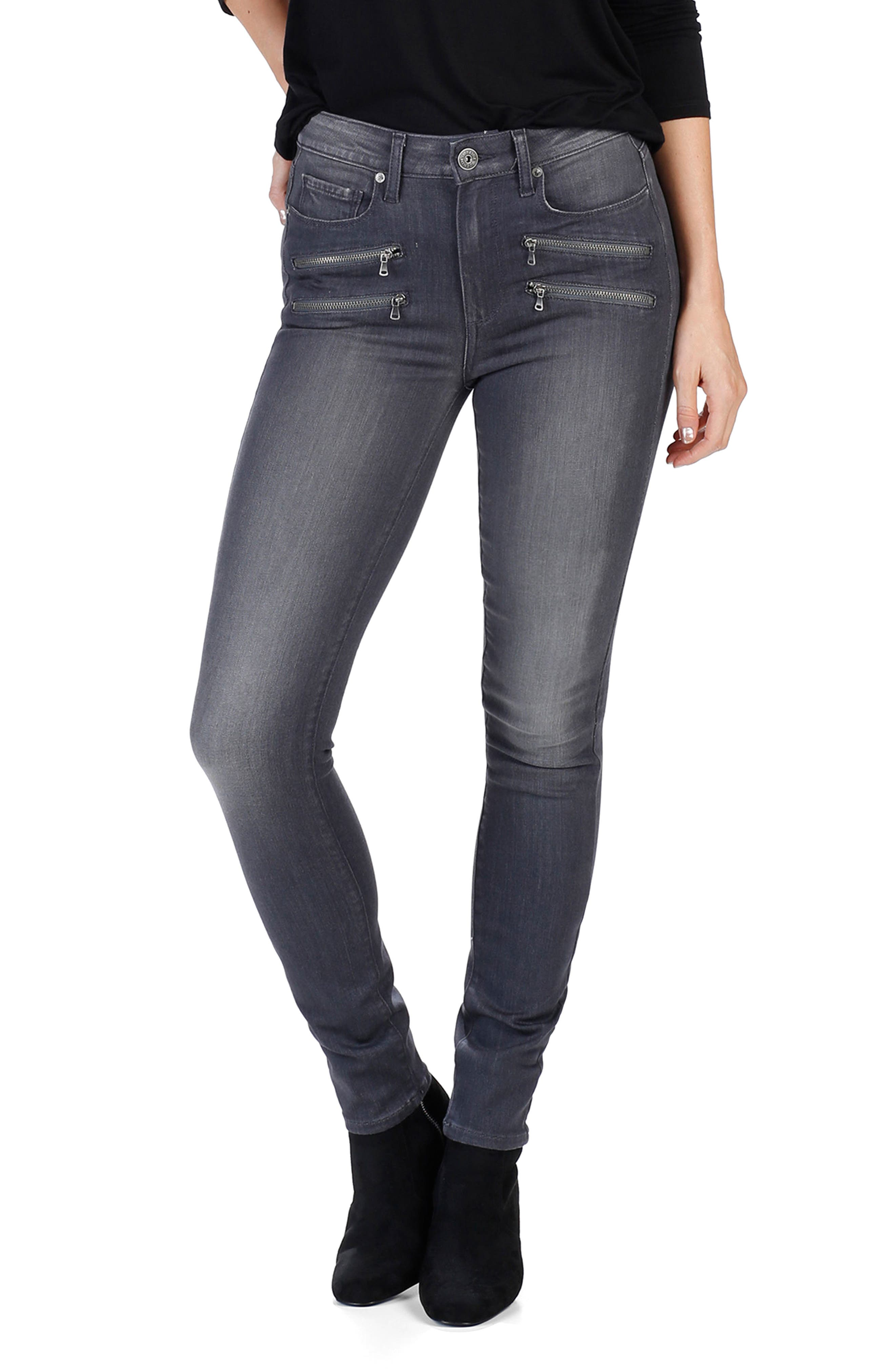 Transcend - Edgemont High Waist Skinny Jeans,                             Alternate thumbnail 2, color,                             020