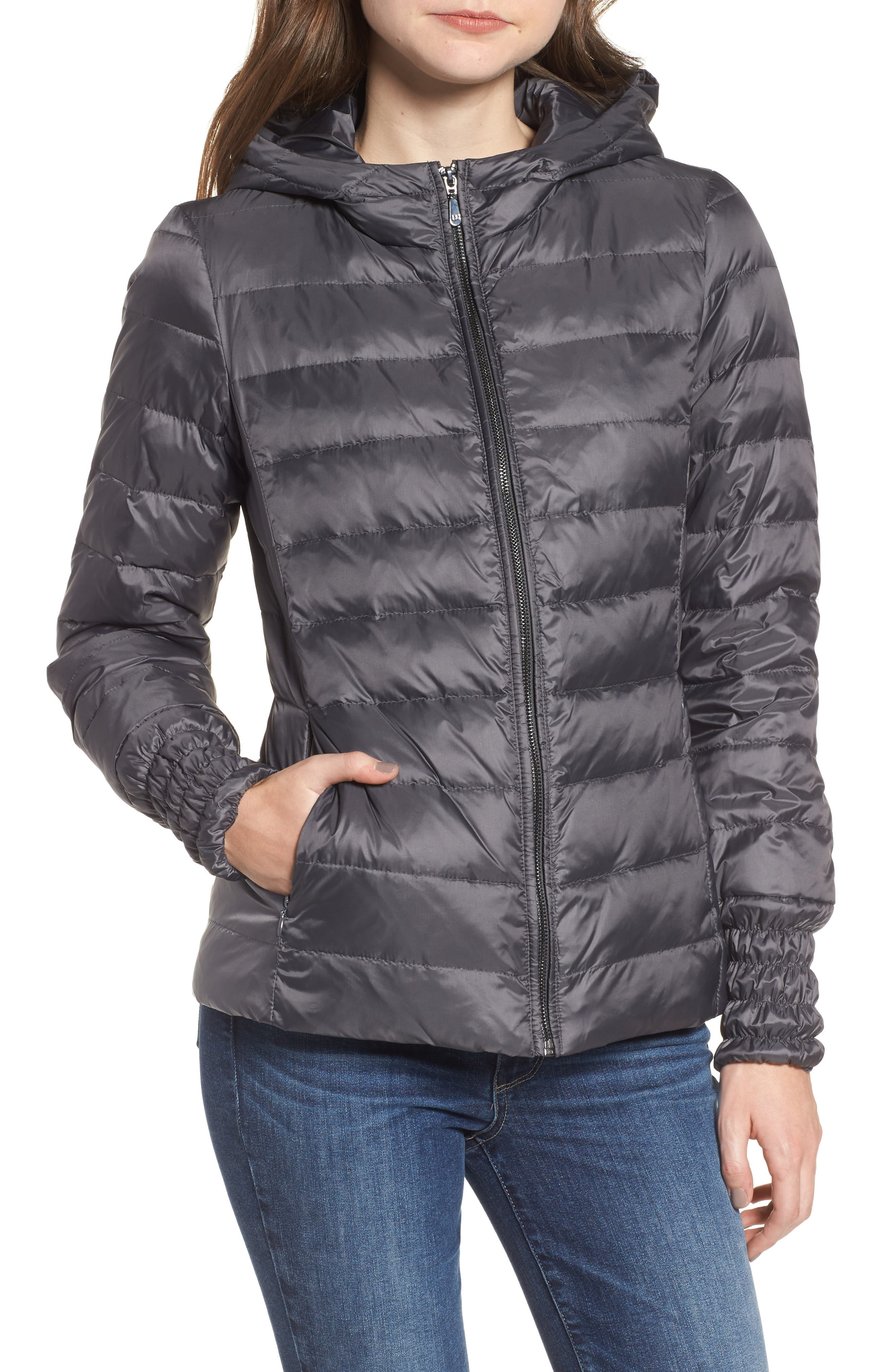 3-in-1 Layered Packable Quilted Down Coat,                             Alternate thumbnail 9, color,