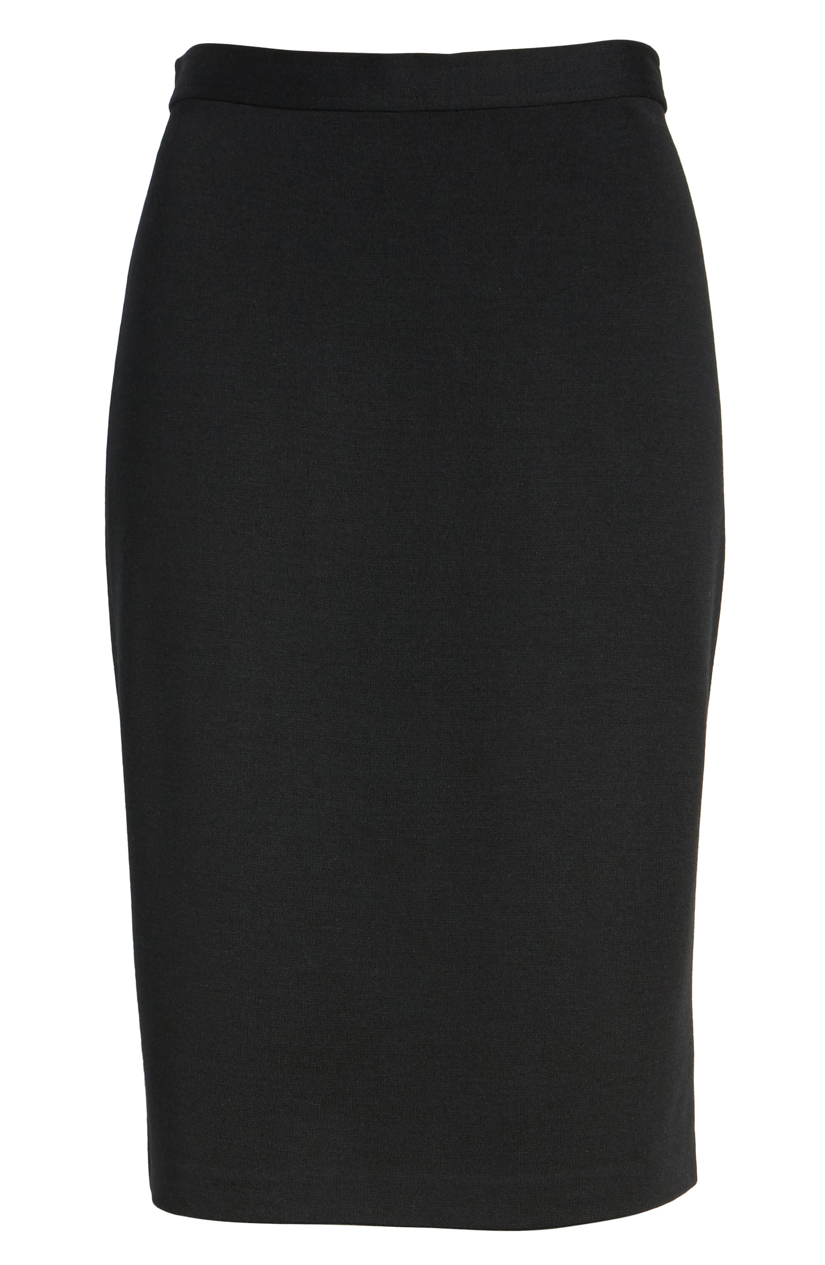 Milano Knit Pencil Skirt,                             Main thumbnail 1, color,                             CAVIAR