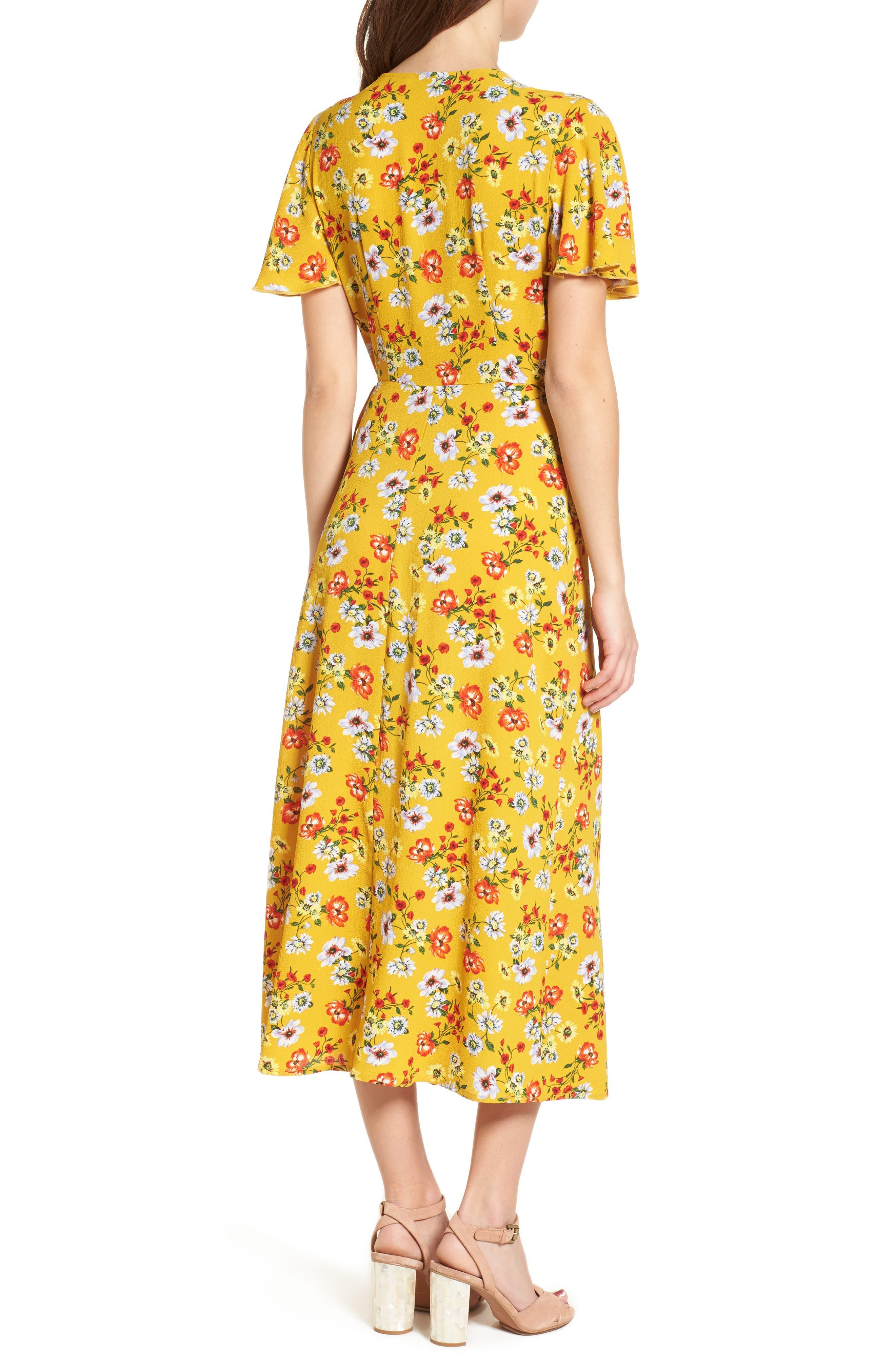 Ruffle Wrap Midi Dress,                             Alternate thumbnail 2, color,                             700