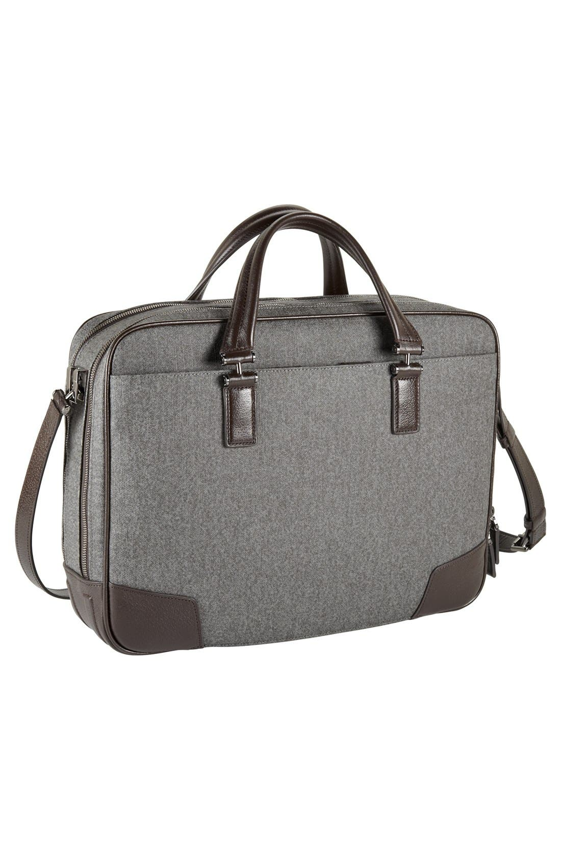 'Astor Ansonia' Zip Top Coated Canvas Laptop Briefcase,                             Alternate thumbnail 5, color,                             068