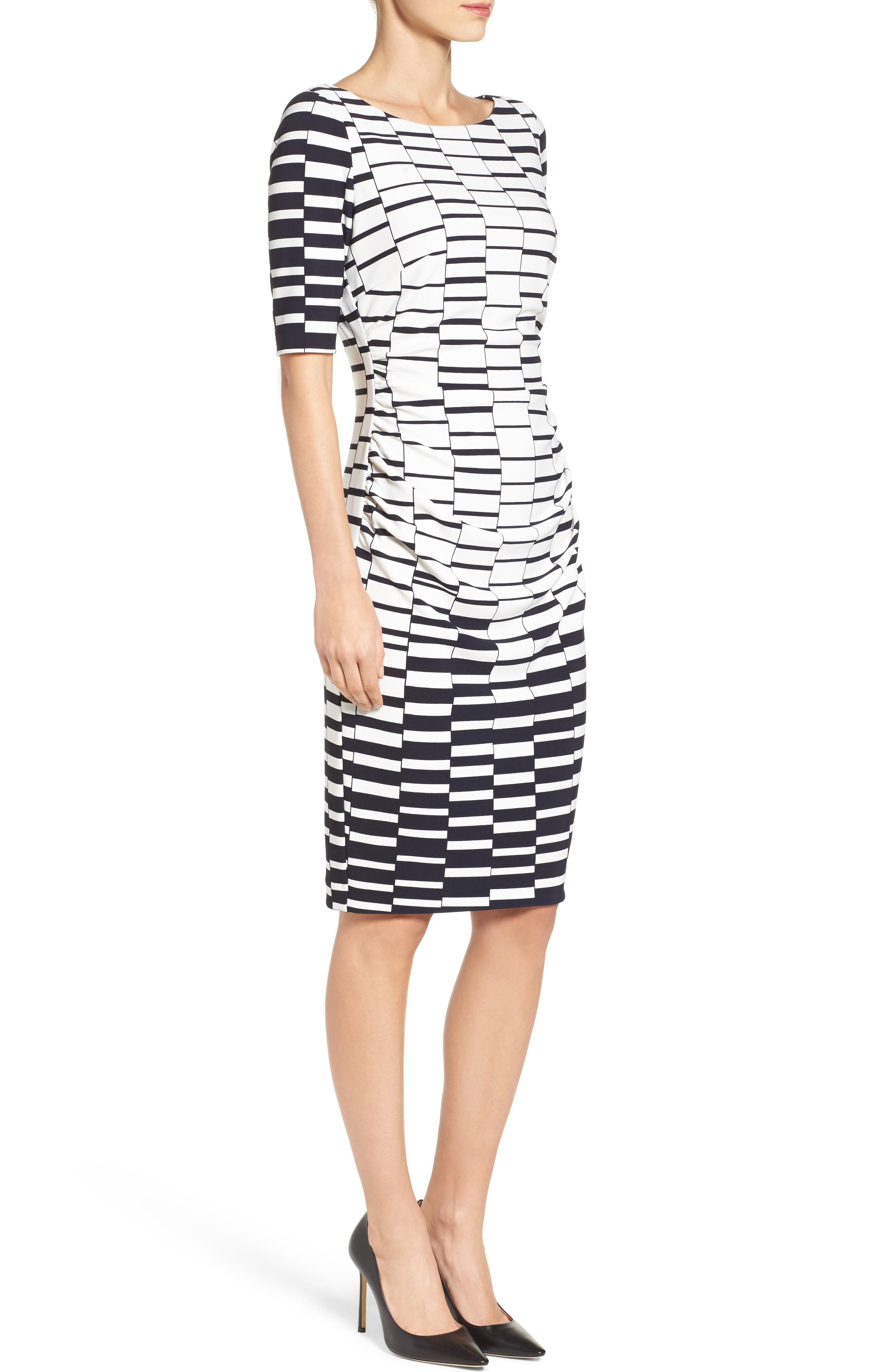 Ruched Body-Con Dress,                             Alternate thumbnail 3, color,                             900