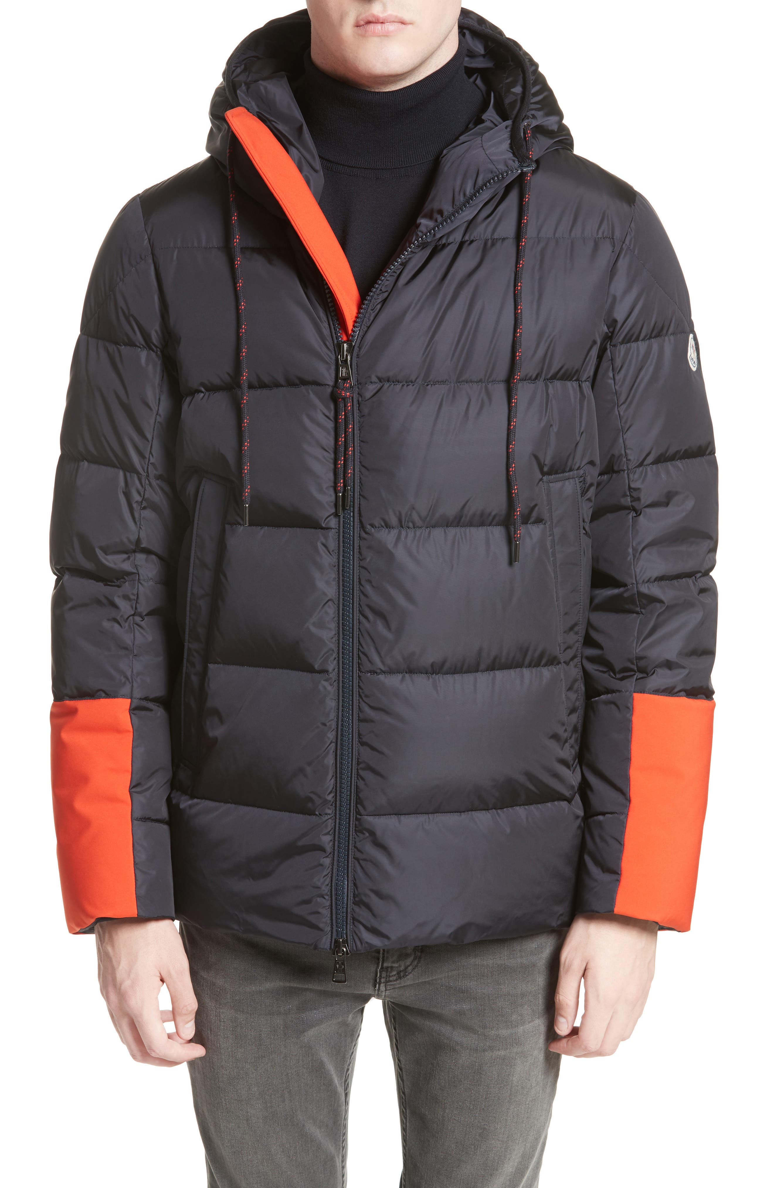 Drake Color Pop Hooded Down Coat,                             Alternate thumbnail 4, color,