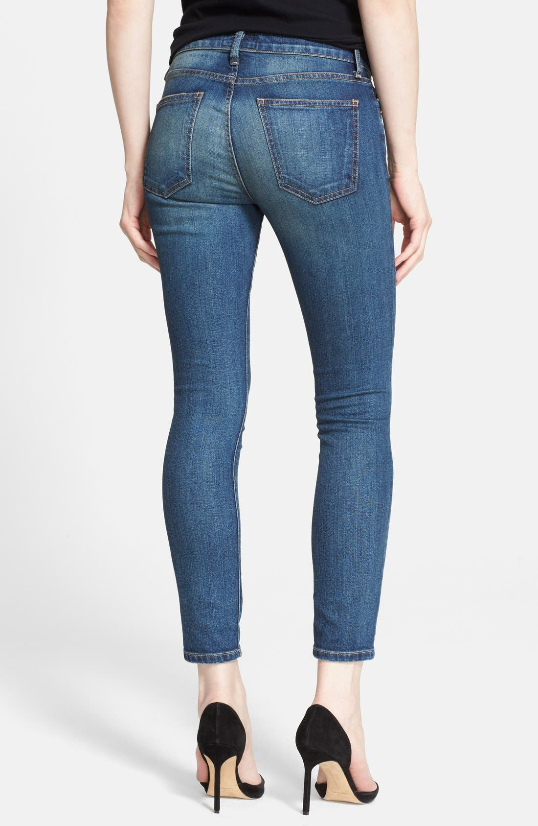 'The Stiletto' Destroyed Skinny Jeans,                             Alternate thumbnail 31, color,