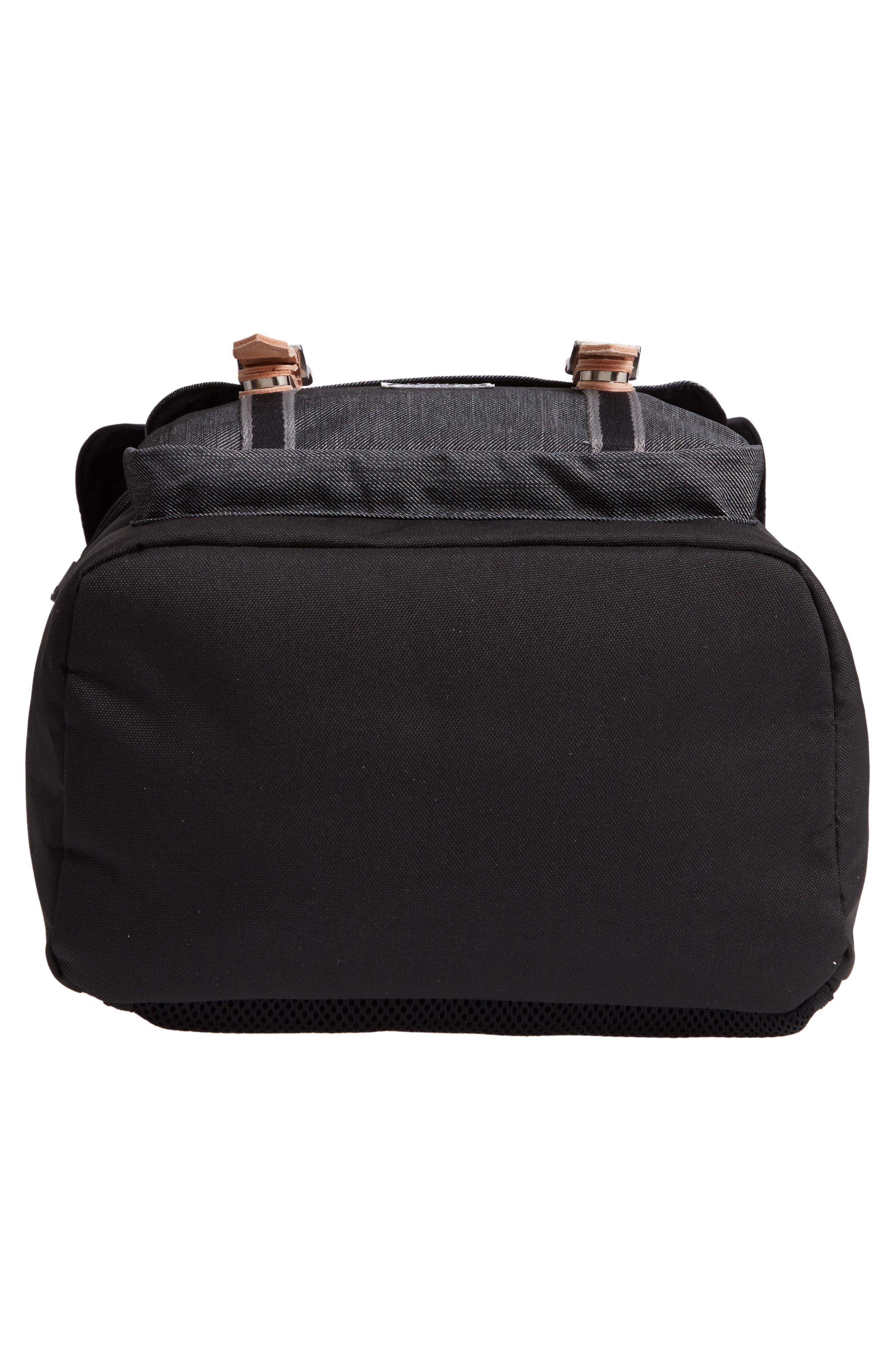 Little America Offset Backpack,                             Alternate thumbnail 6, color,                             BLACK/ BLACK DENIM