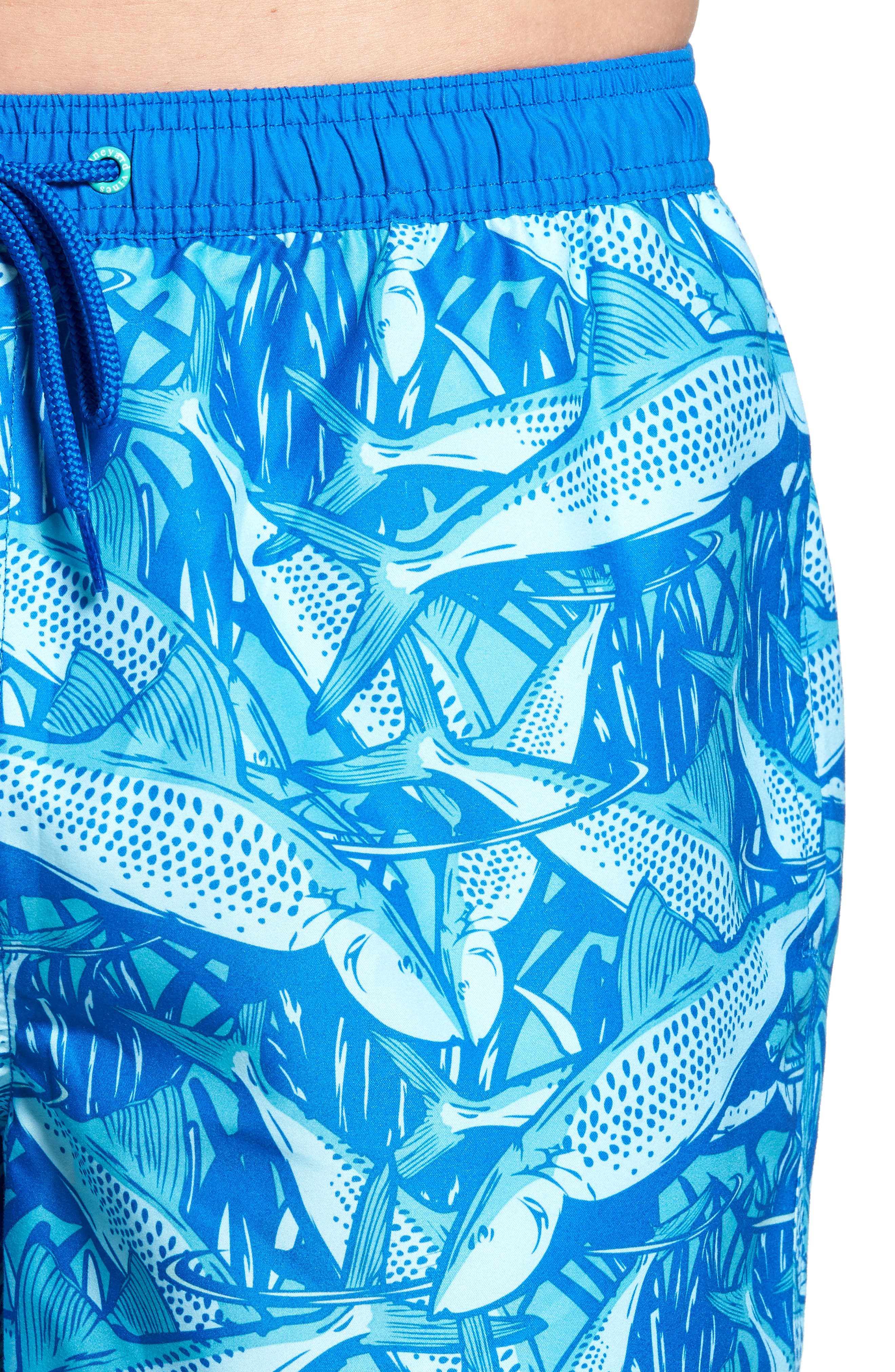 Chappy Bonefish Print Swim Trunks,                             Alternate thumbnail 5, color,                             459