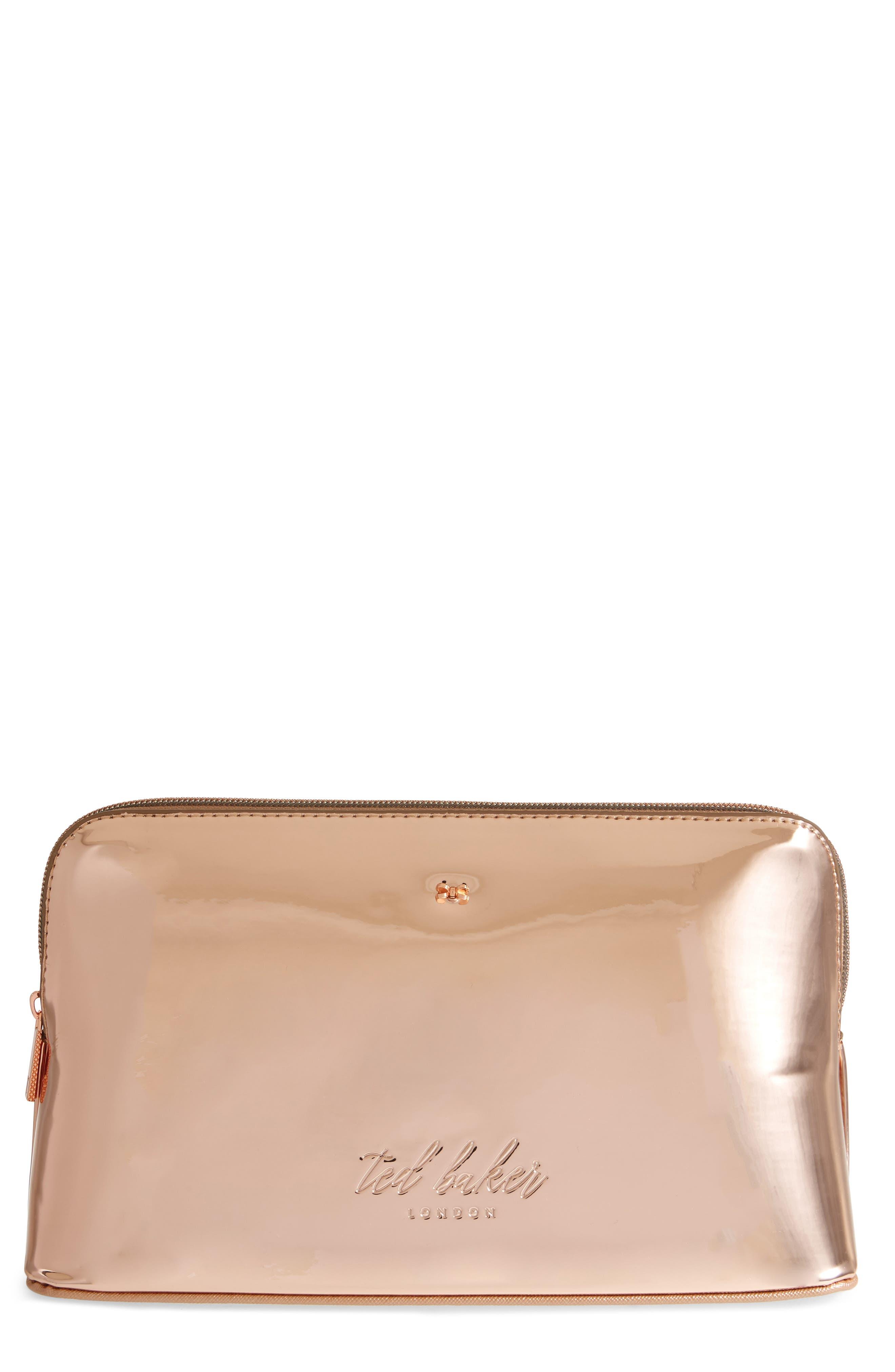 Lauran Mirrored Wash Bag,                             Main thumbnail 2, color,