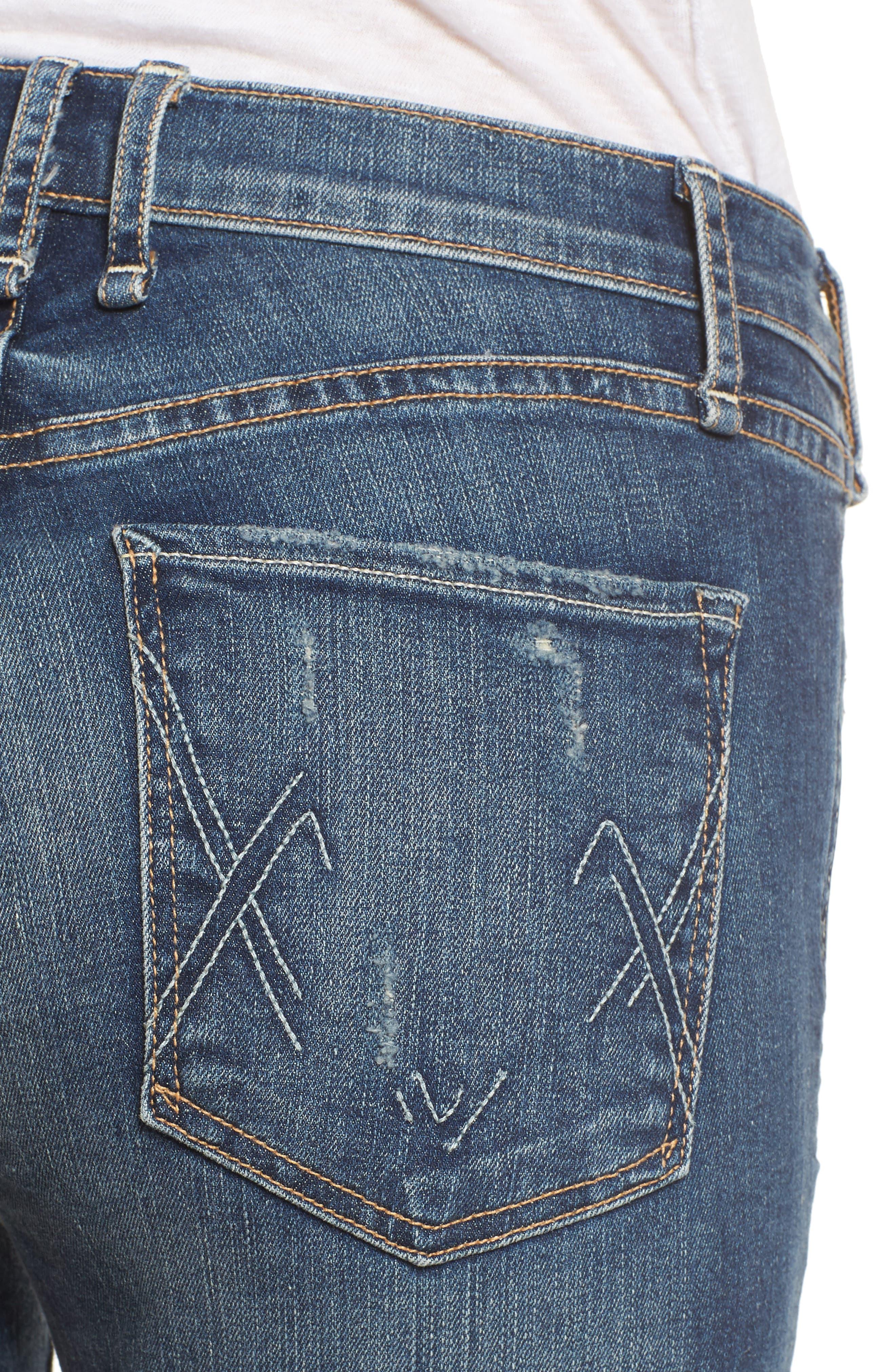 Newton High Rise Skinny Jeans,                             Alternate thumbnail 4, color,                             420