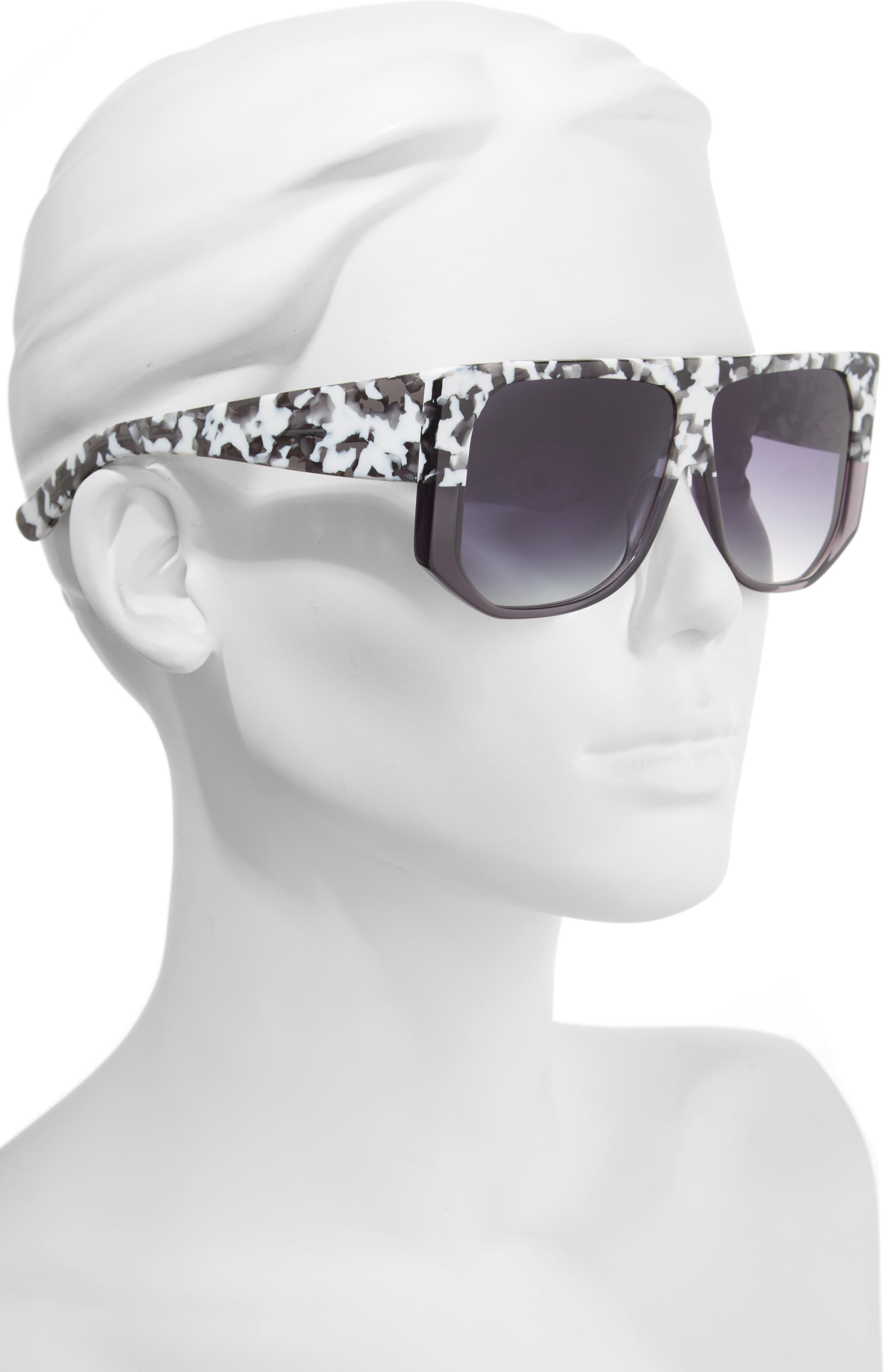 Frequent Flyer 58mm Sunglasses,                             Alternate thumbnail 2, color,                             WHITE CAMO