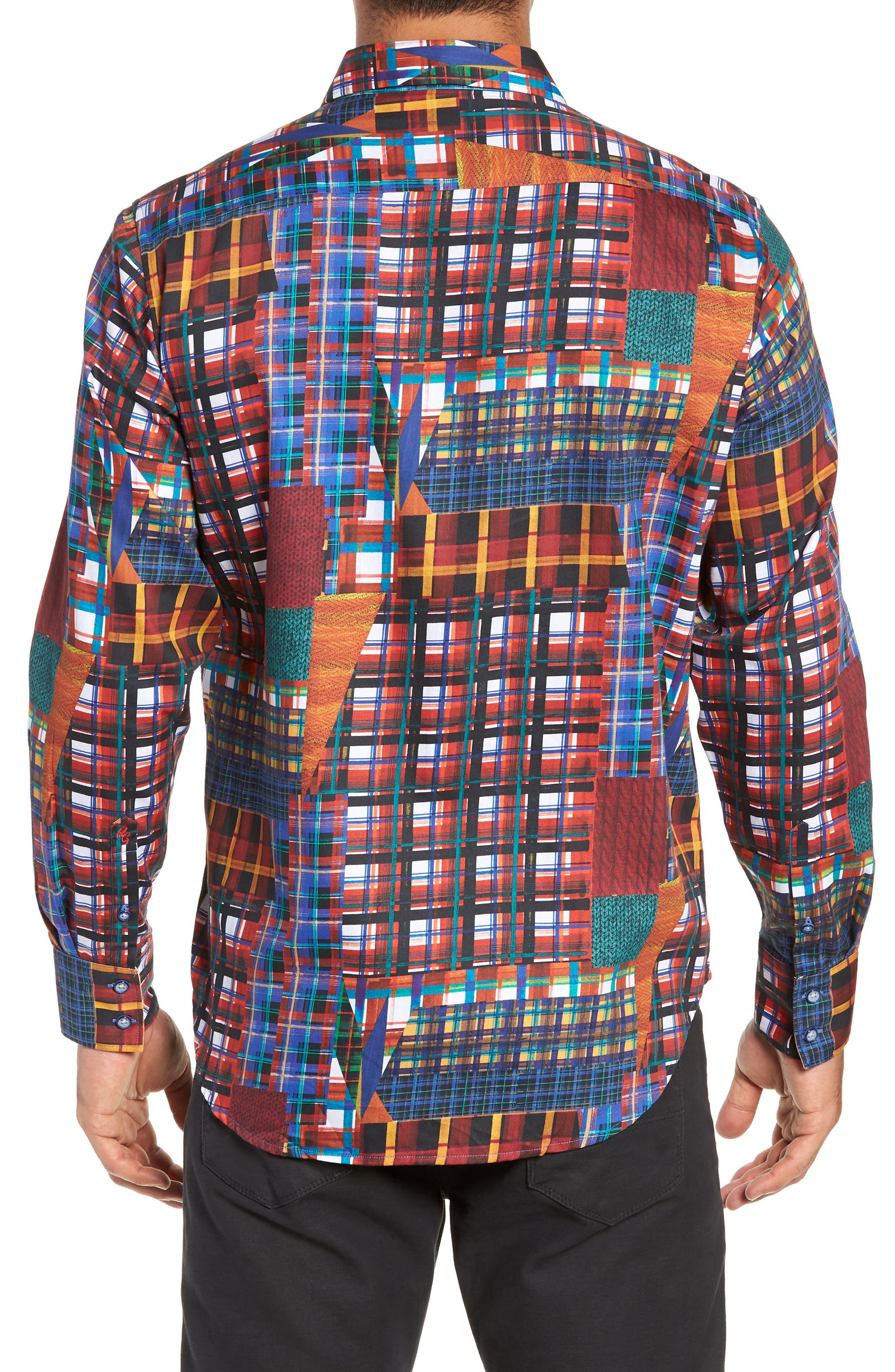 ROBERT GRAHAM,                             Hurst Classic Fit Sport Shirt,                             Alternate thumbnail 3, color,                             600