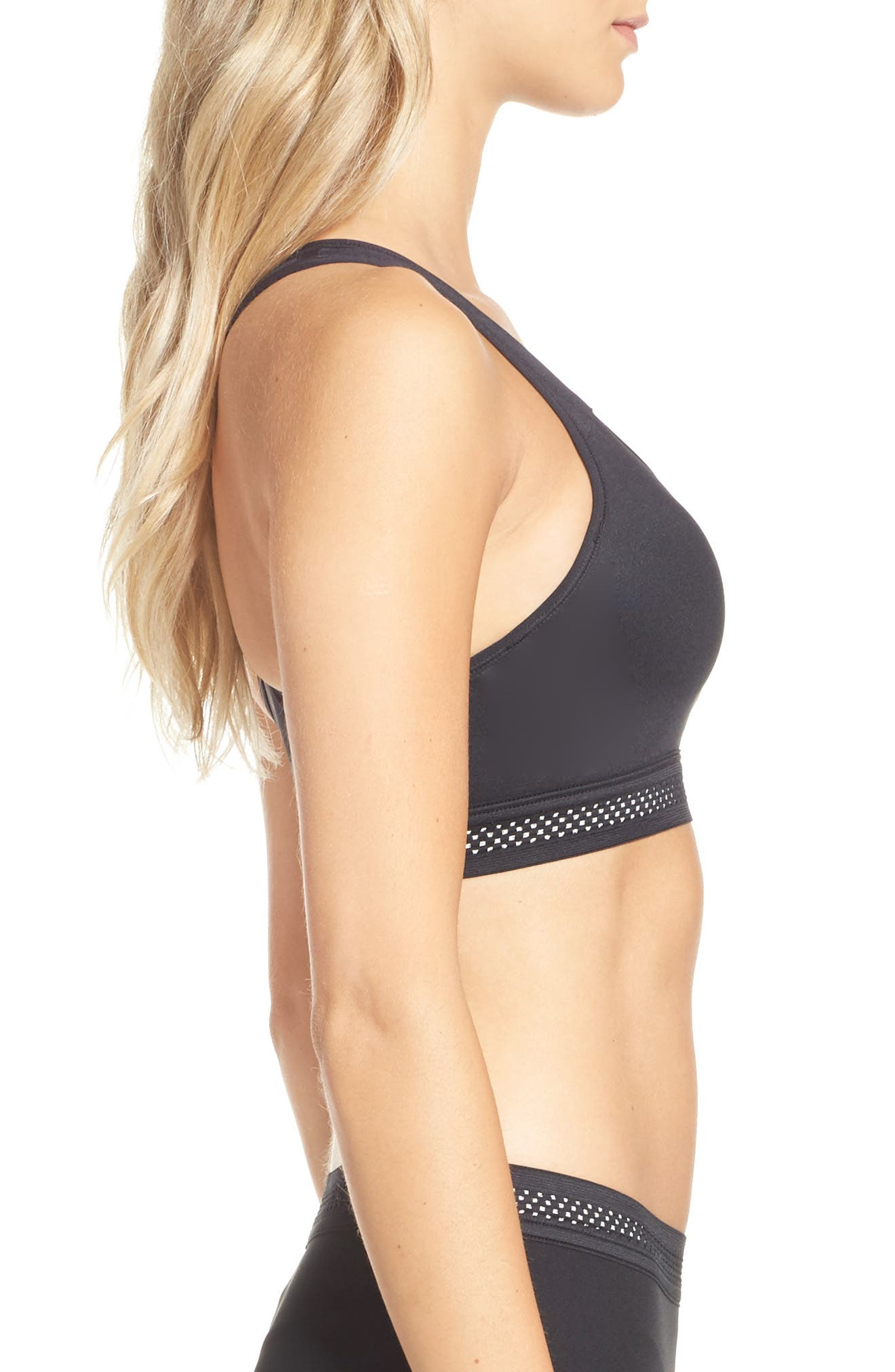 NikeLab Essential Training Sports Bra,                             Alternate thumbnail 3, color,                             010