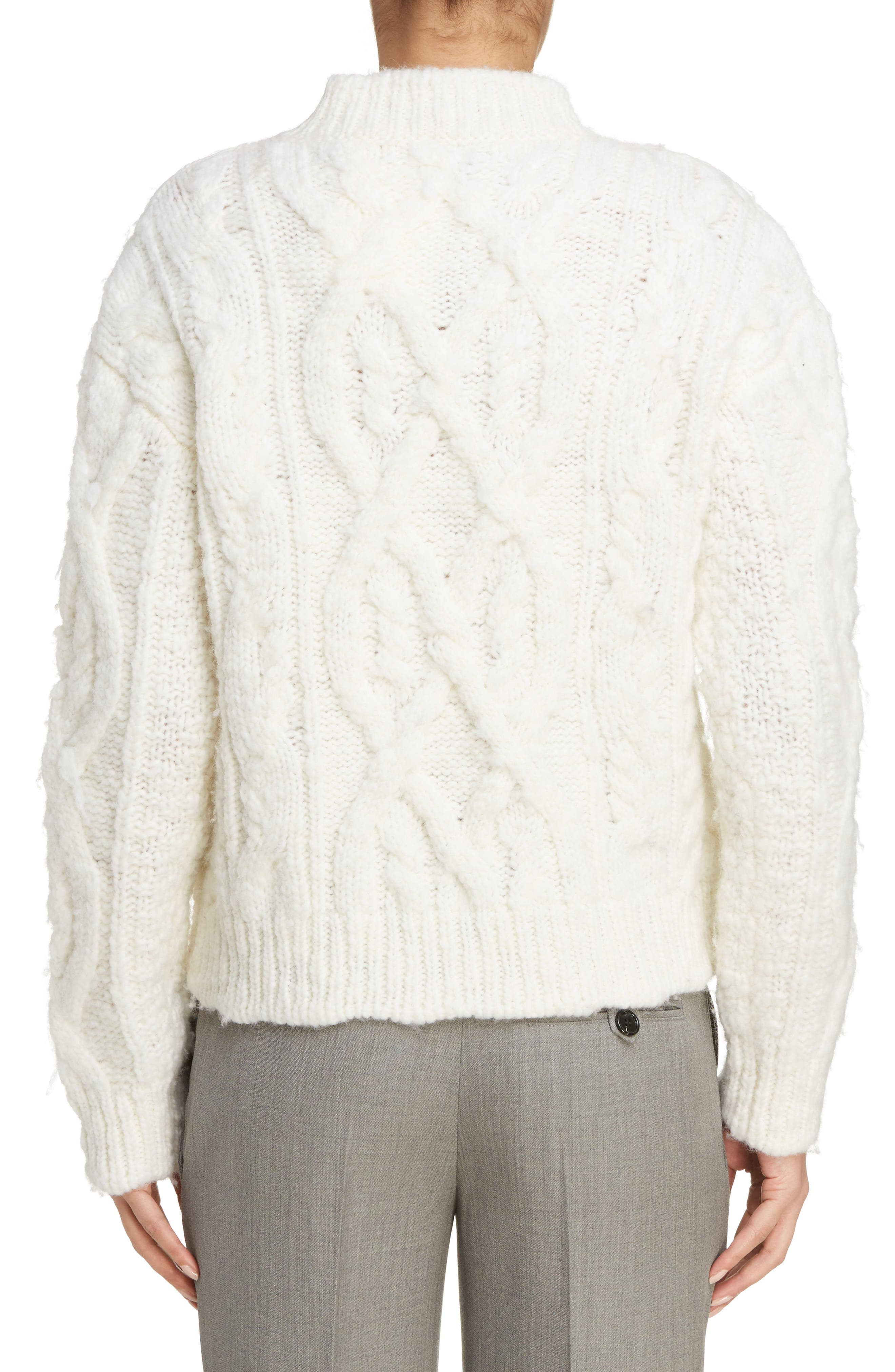Edyta Cable Knit Sweater,                             Alternate thumbnail 2, color,                             900